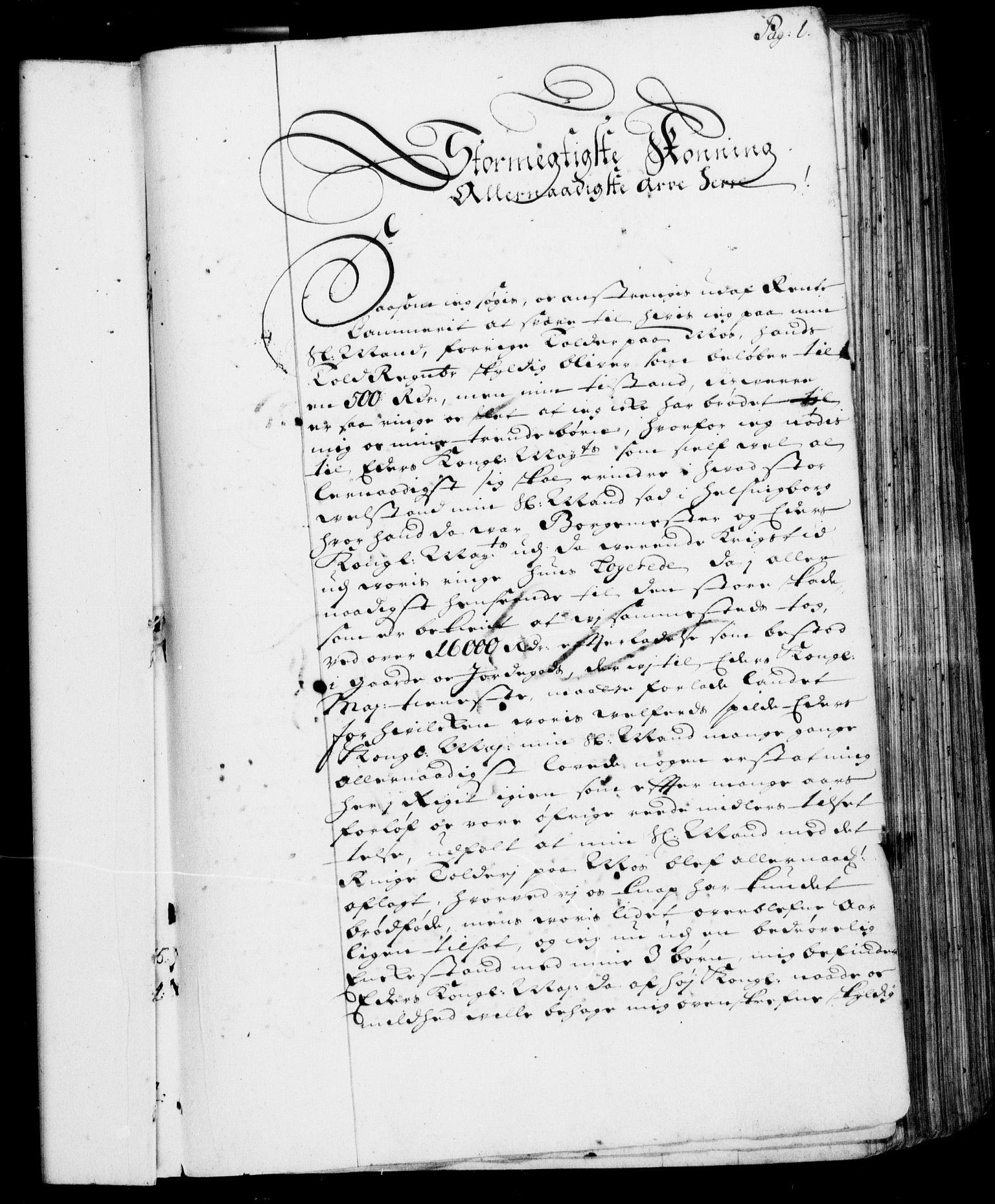 RA, Rentekammeret, Kammerkanselliet, G/Gf/Gfa/L0001: Resolusjonsprotokoll med register (merket RK 52.1), 1695-1706, s. 1