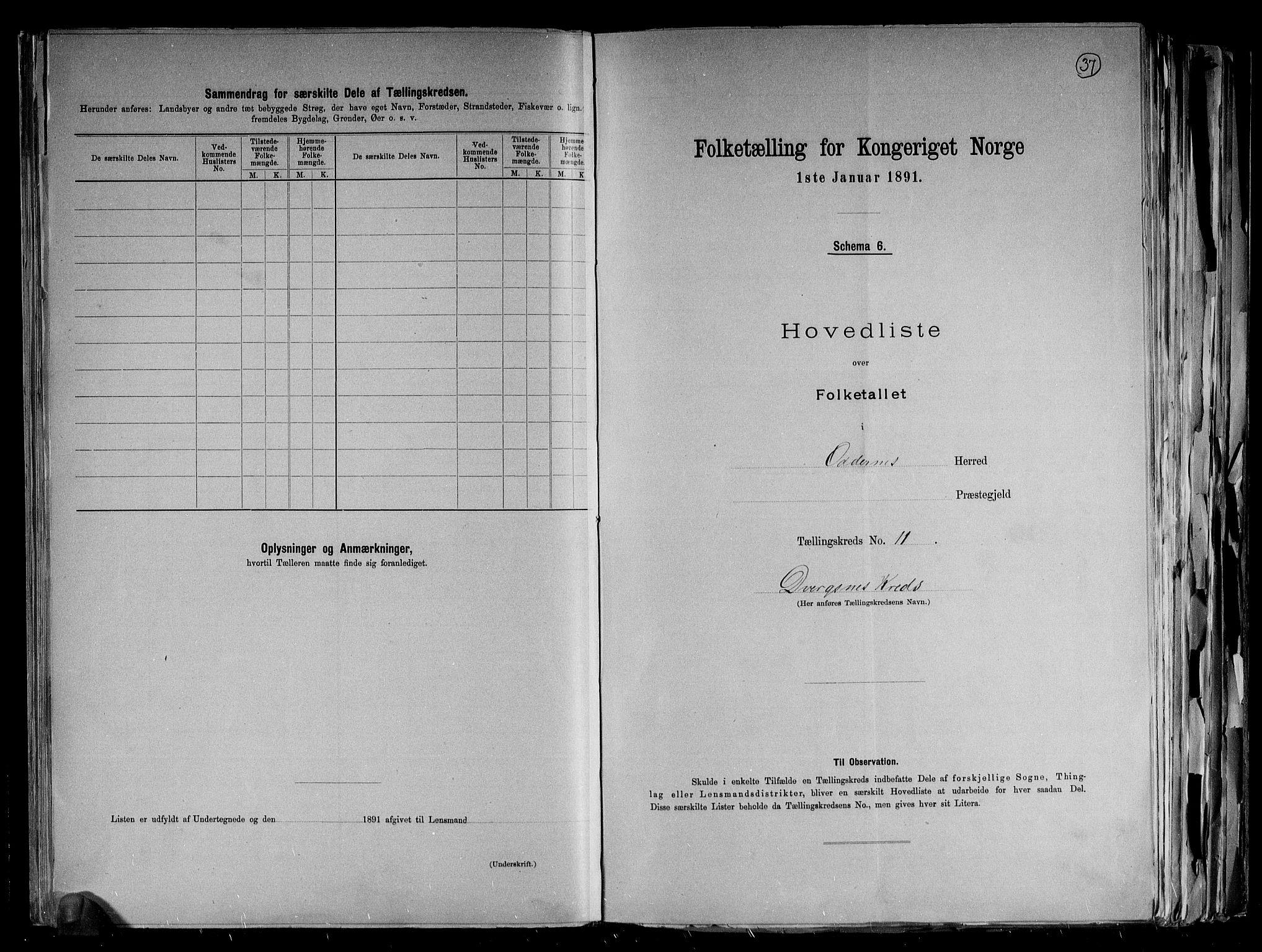 RA, Folketelling 1891 for 1012 Oddernes herred, 1891, s. 25