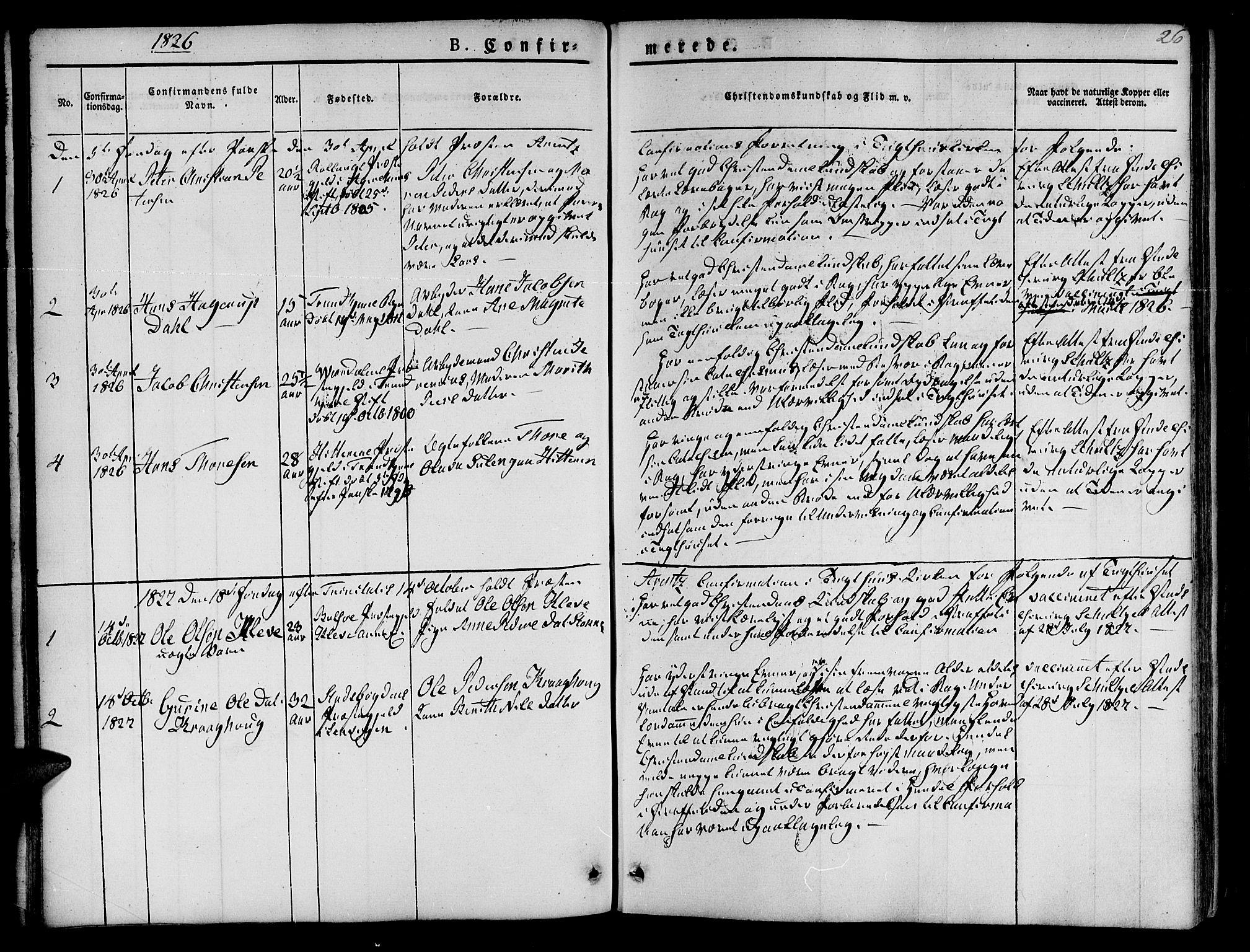 SAT, Ministerialprotokoller, klokkerbøker og fødselsregistre - Sør-Trøndelag, 623/L0468: Ministerialbok nr. 623A02, 1826-1867, s. 26