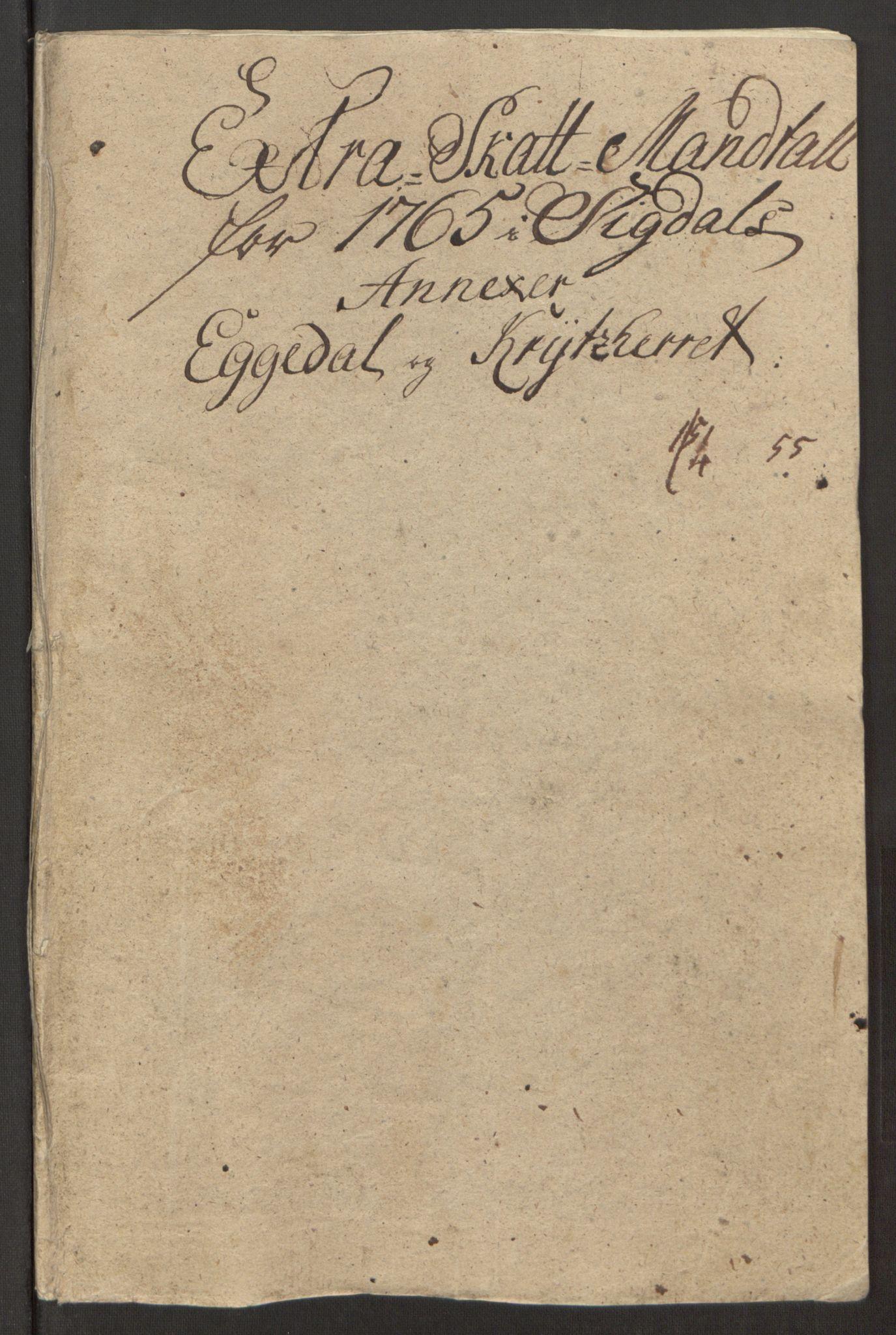 RA, Rentekammeret inntil 1814, Reviderte regnskaper, Fogderegnskap, R31/L1834: Ekstraskatten Hurum, Røyken, Eiker, Lier og Buskerud, 1765, s. 307