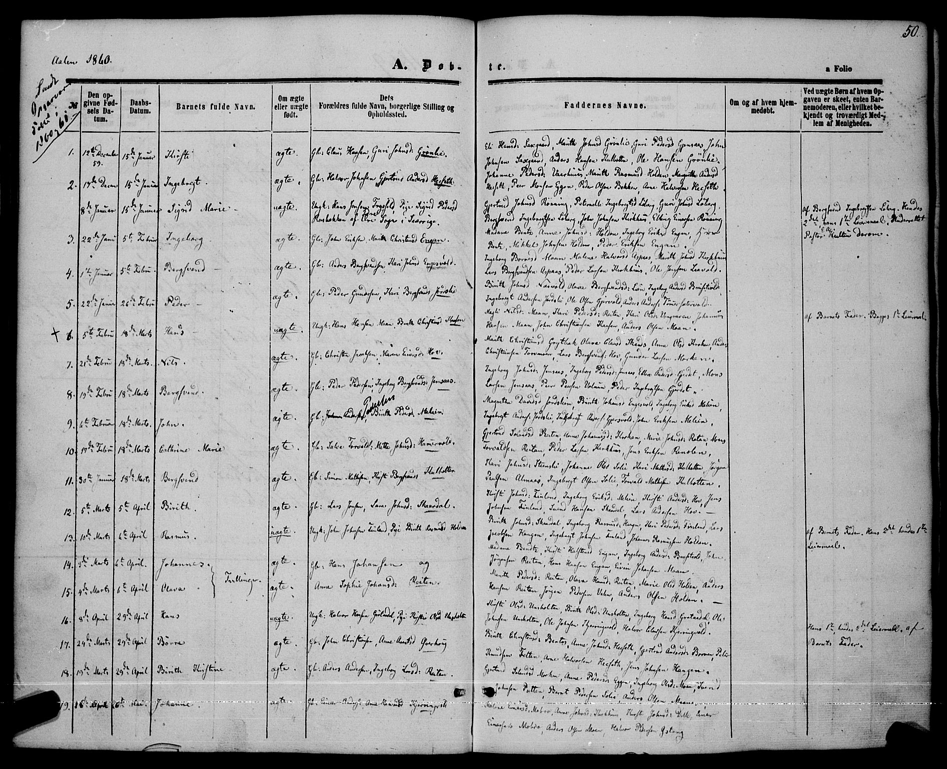 SAT, Ministerialprotokoller, klokkerbøker og fødselsregistre - Sør-Trøndelag, 685/L0968: Ministerialbok nr. 685A07 /3, 1860-1869, s. 50
