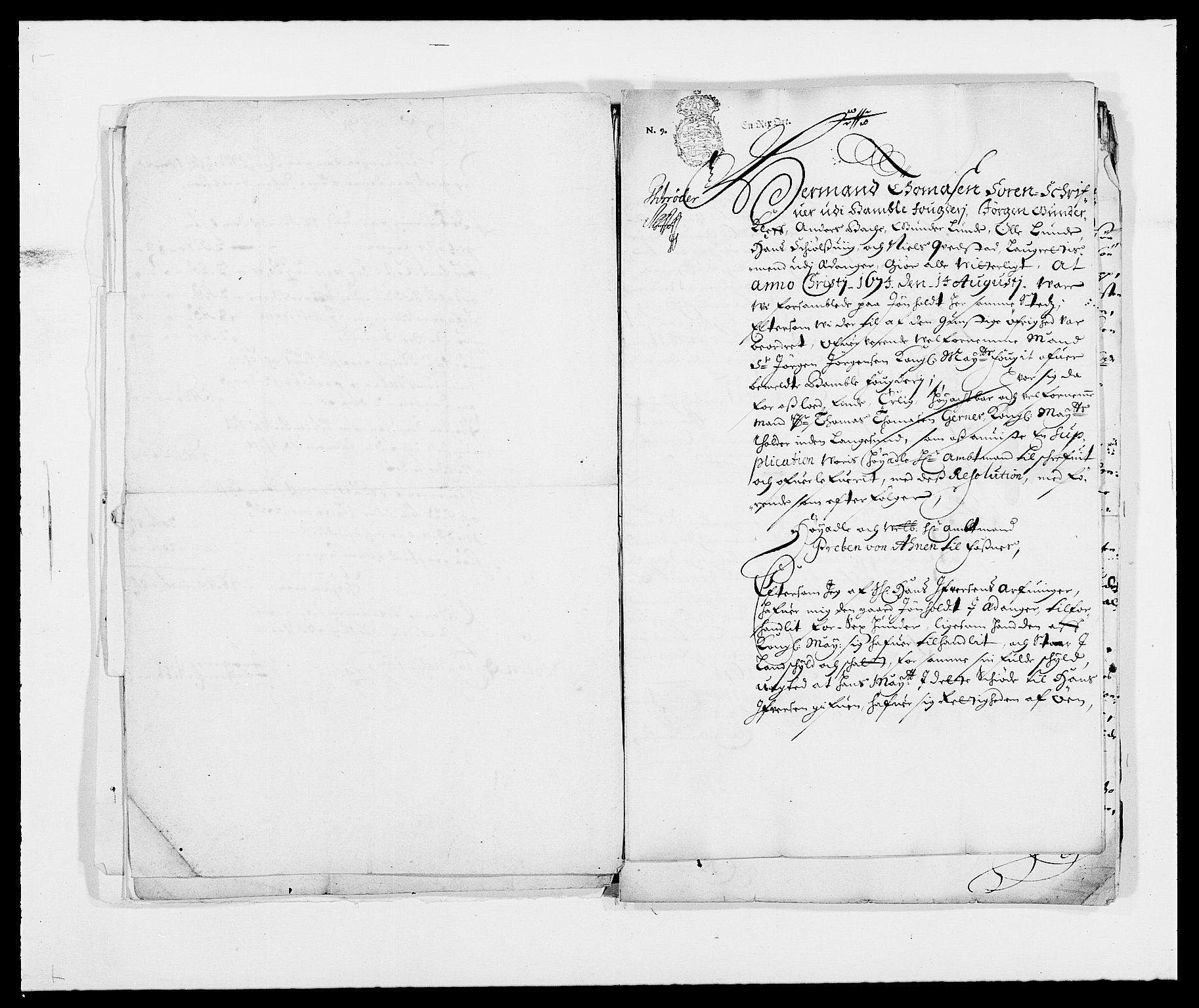 RA, Rentekammeret inntil 1814, Reviderte regnskaper, Fogderegnskap, R34/L2041: Fogderegnskap Bamble, 1670-1672, s. 414