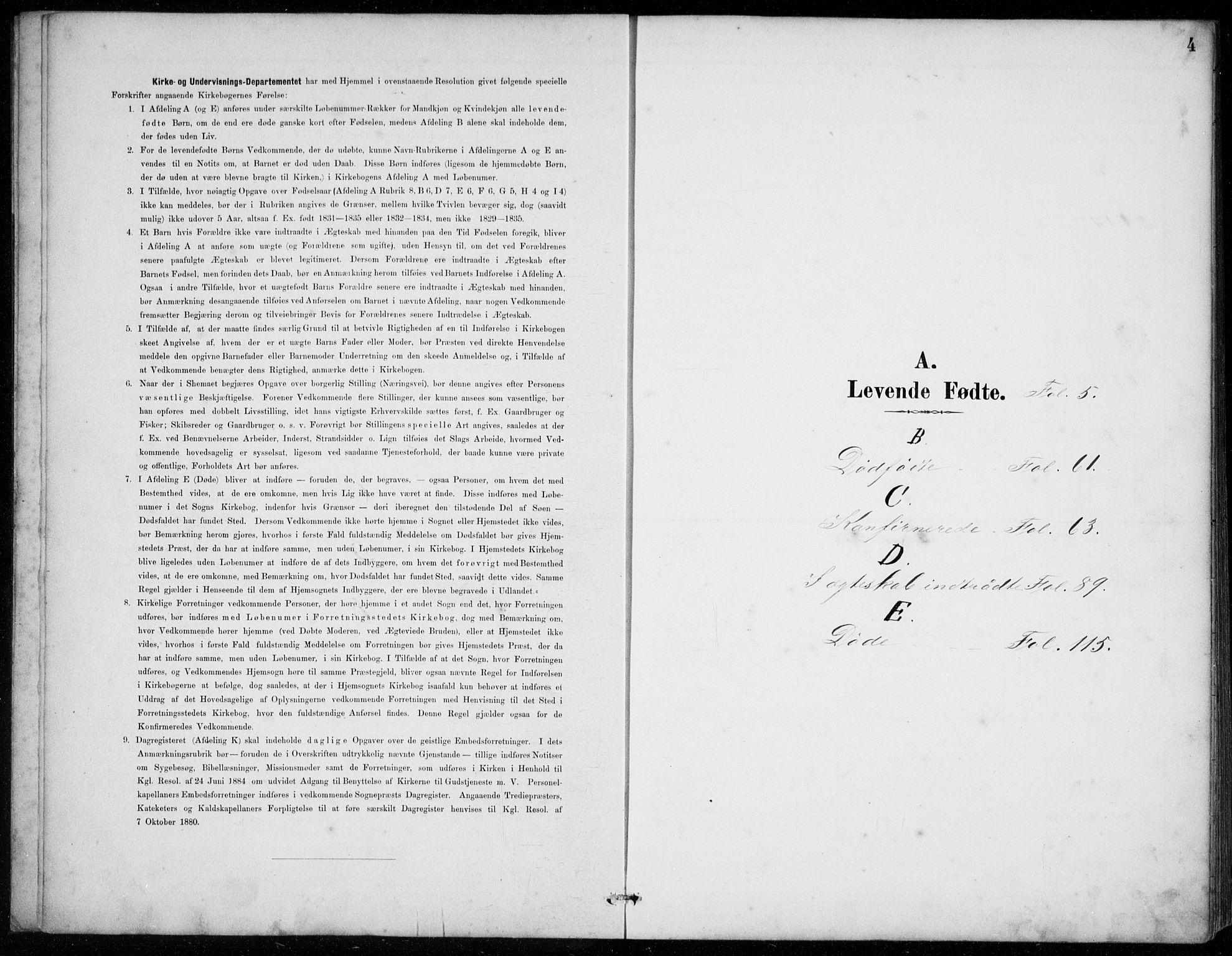 SAB, Strandebarm Sokneprestembete, H/Hab: Klokkerbok nr. C  1, 1891-1913, s. 4