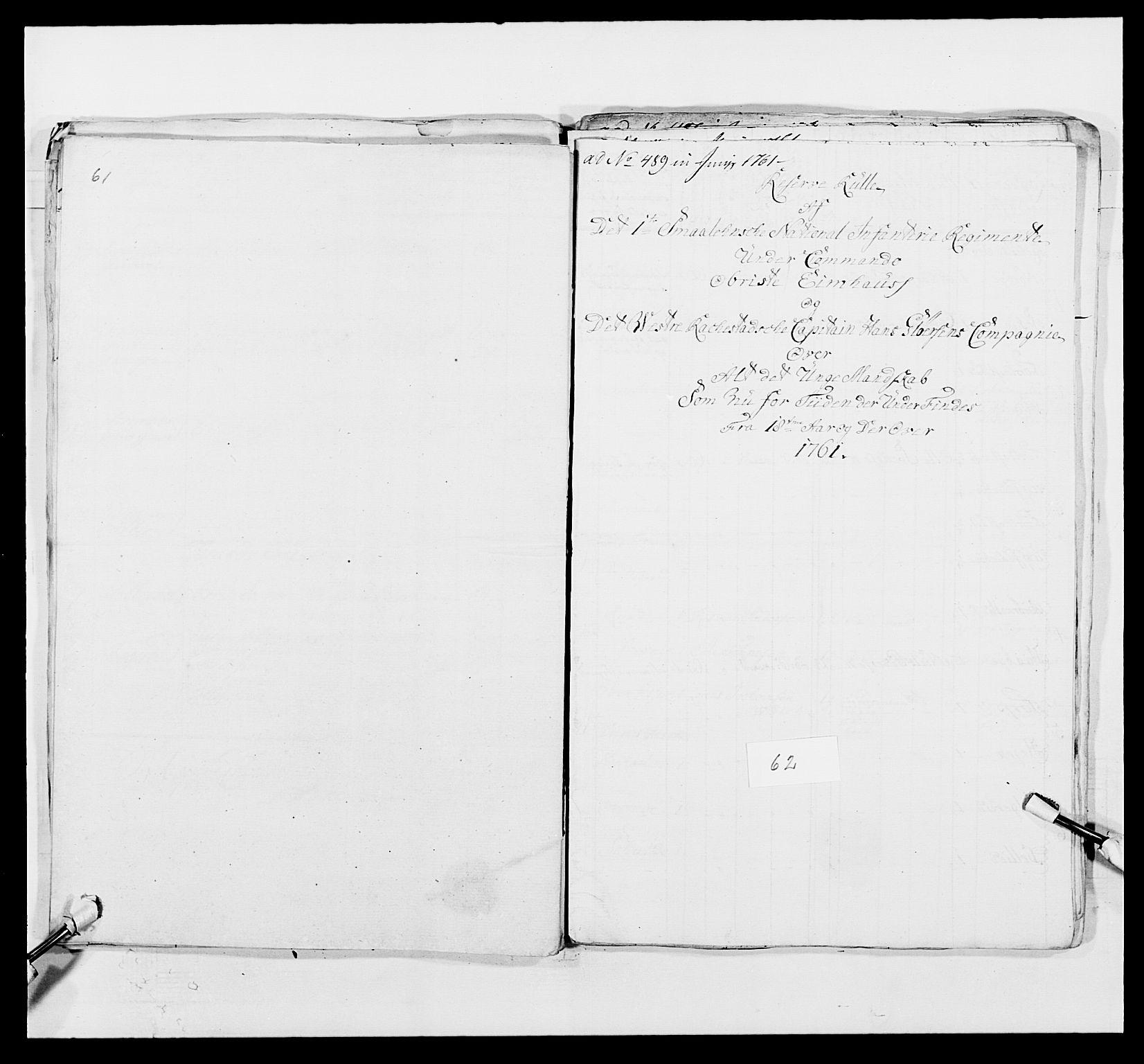 RA, Kommanderende general (KG I) med Det norske krigsdirektorium, E/Ea/L0495: 1. Smålenske regiment, 1732-1763, s. 782