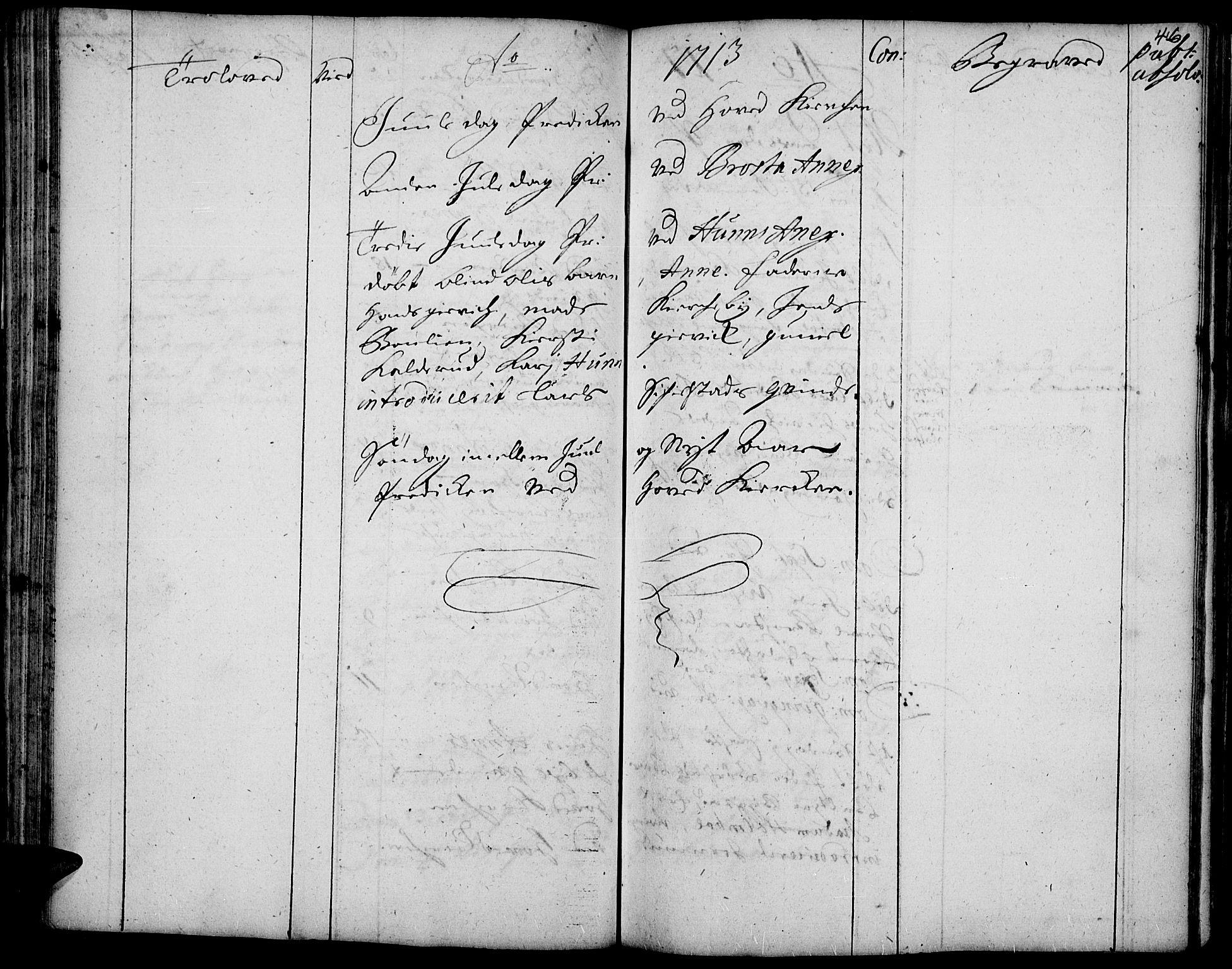 SAH, Vardal prestekontor, H/Ha/Haa/L0001: Ministerialbok nr. 1, 1706-1748, s. 46