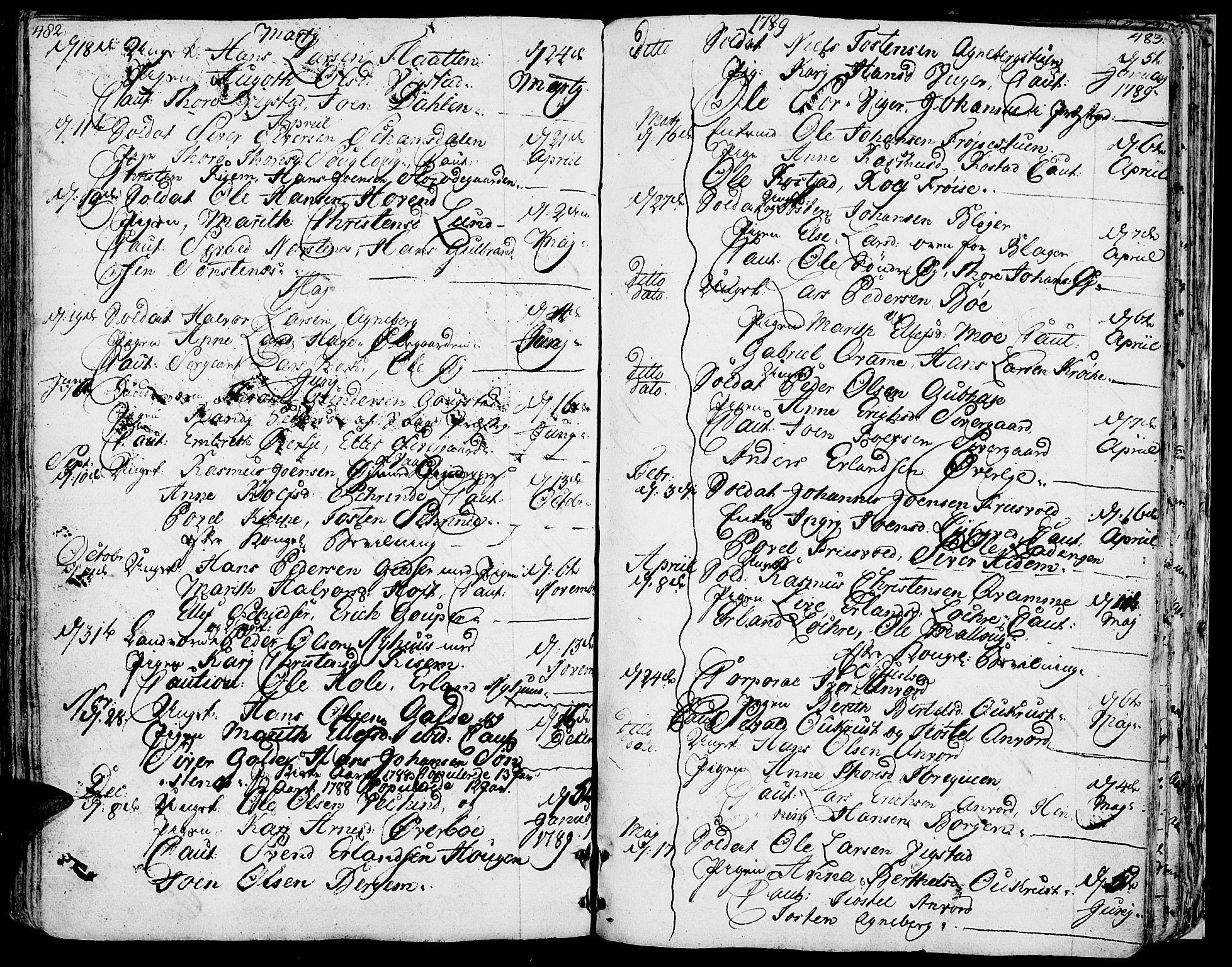 SAH, Lom prestekontor, K/L0002: Ministerialbok nr. 2, 1749-1801, s. 482-483