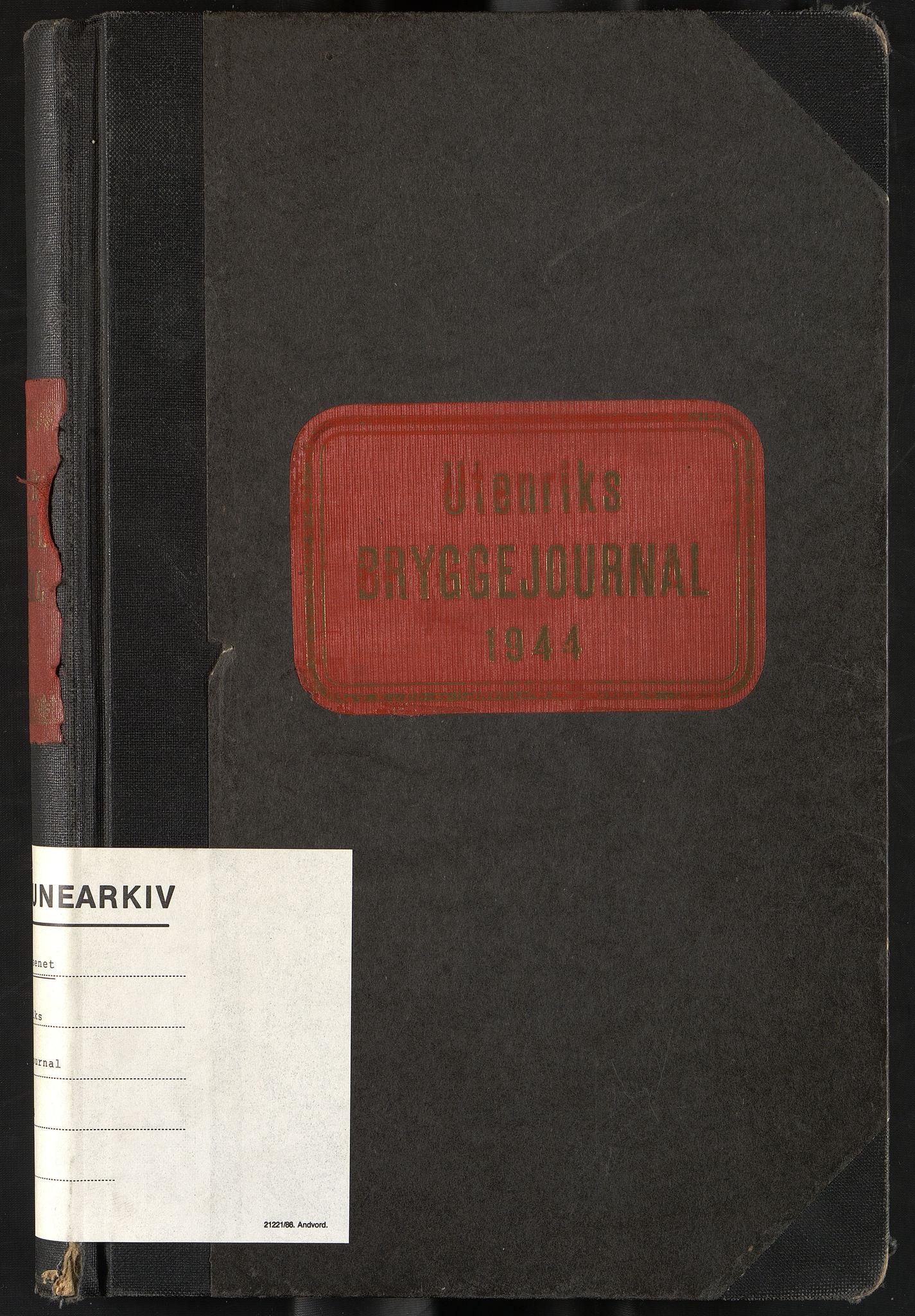 OBA, Oslo havnevesen, Fa/Fac/L0058: Utenriks bryggejournal, 1944