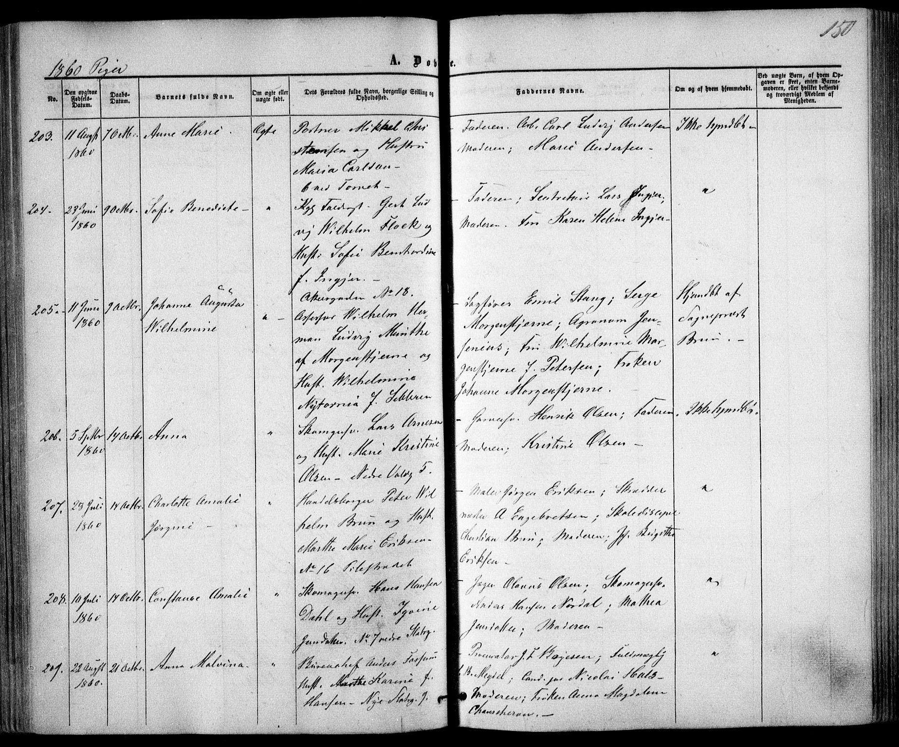SAO, Trefoldighet prestekontor Kirkebøker, F/Fa/L0001: Ministerialbok nr. I 1, 1858-1863, s. 150