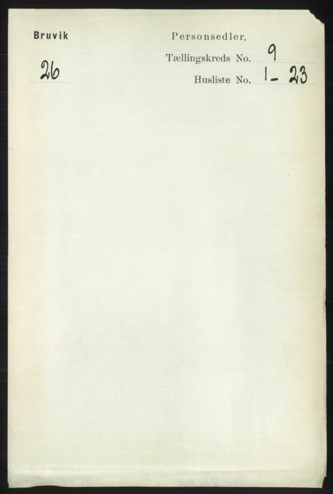 RA, Folketelling 1891 for 1251 Bruvik herred, 1891, s. 3258