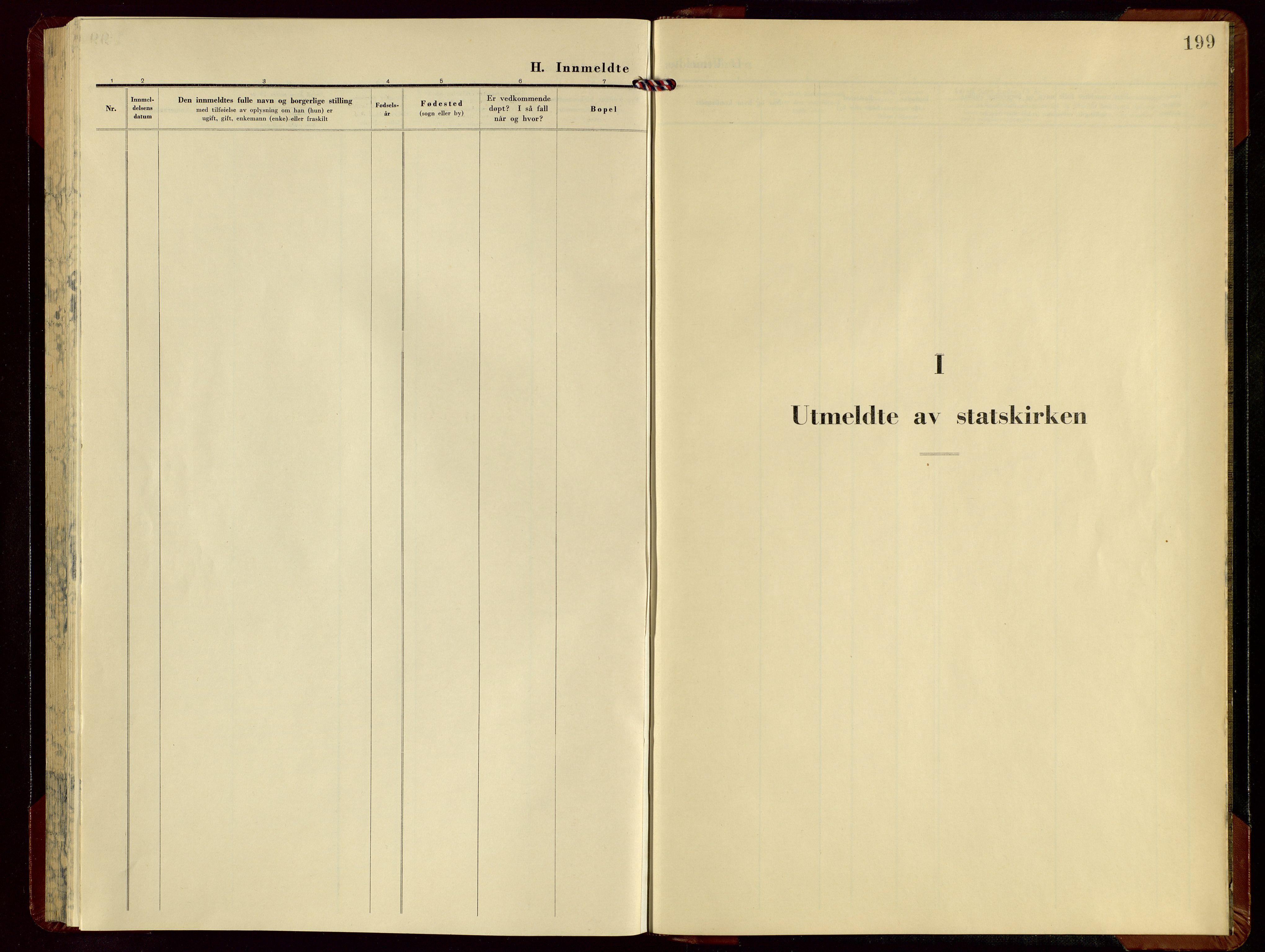 SAST, Kopervik sokneprestkontor, H/Ha/Hab/L0011: Klokkerbok nr. B 11, 1949-1964, s. 199