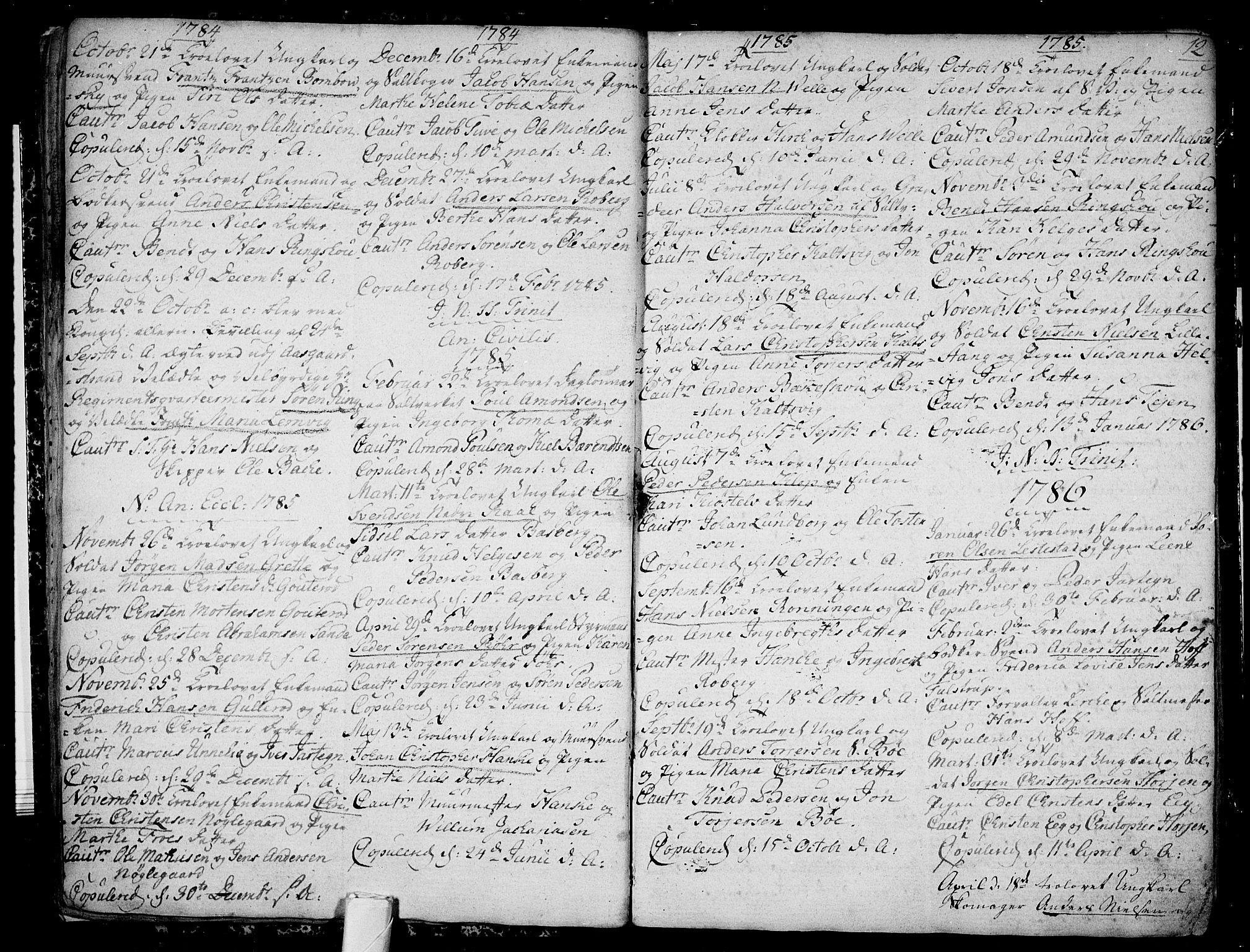SAKO, Sem kirkebøker, F/Fb/L0002: Ministerialbok nr. II 2, 1764-1792, s. 12