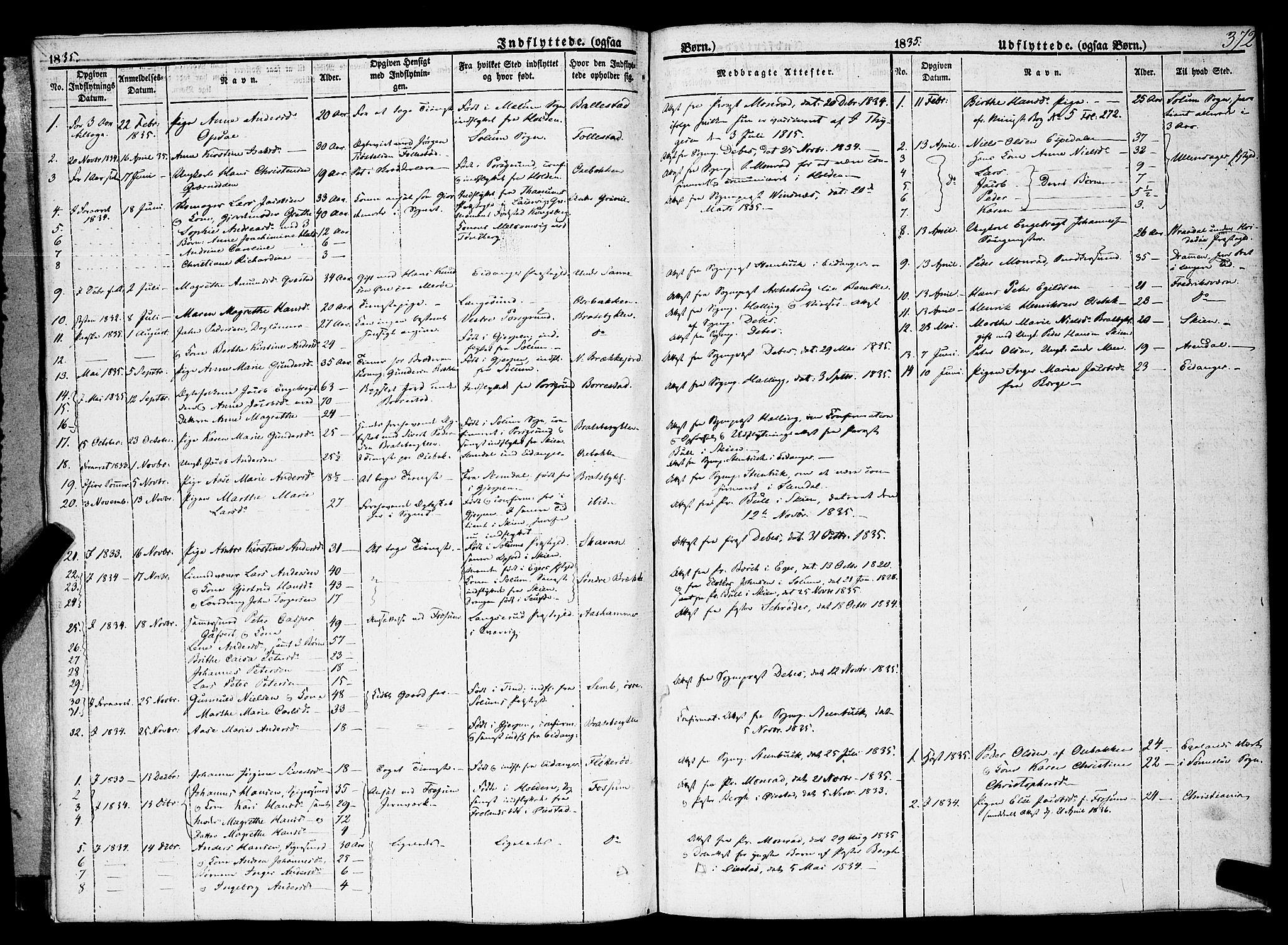 SAKO, Gjerpen kirkebøker, F/Fa/L0007b: Ministerialbok nr. 7B, 1834-1857, s. 372