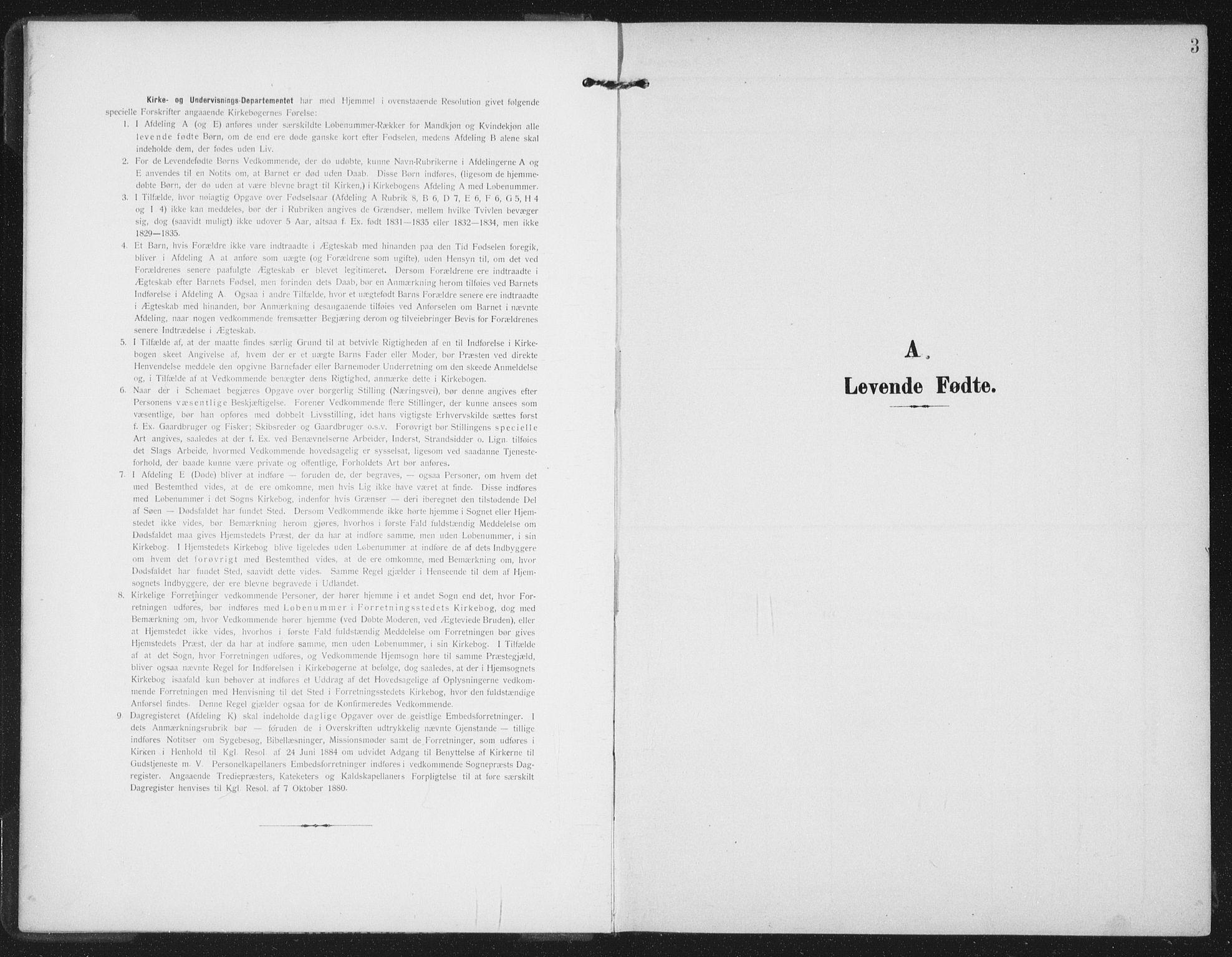SAT, Ministerialprotokoller, klokkerbøker og fødselsregistre - Nord-Trøndelag, 747/L0460: Klokkerbok nr. 747C02, 1908-1939, s. 3