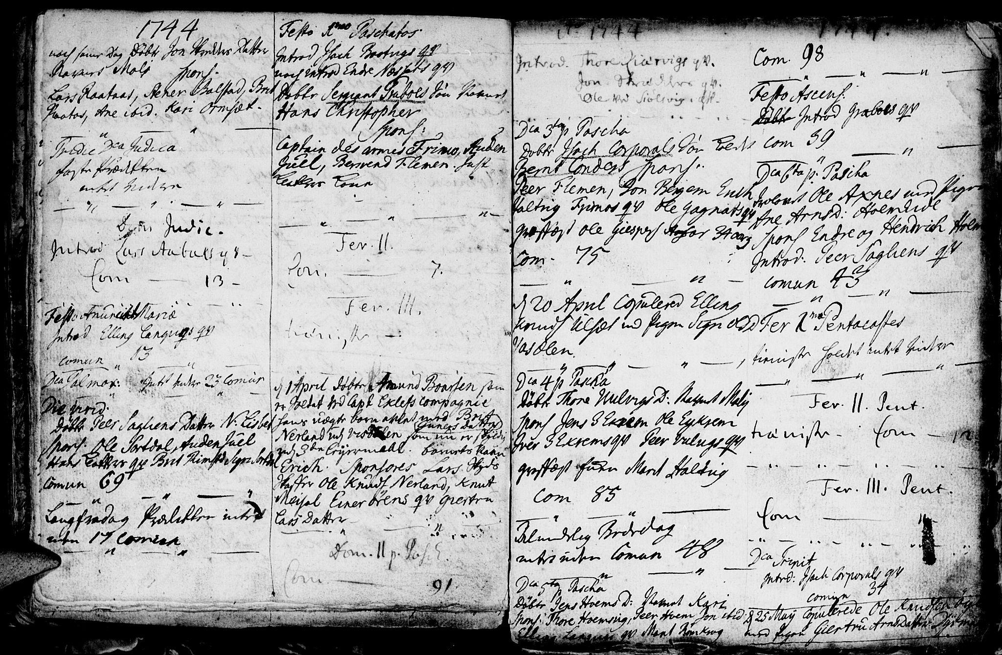 SAT, Ministerialprotokoller, klokkerbøker og fødselsregistre - Møre og Romsdal, 586/L0978: Ministerialbok nr. 586A04, 1732-1751