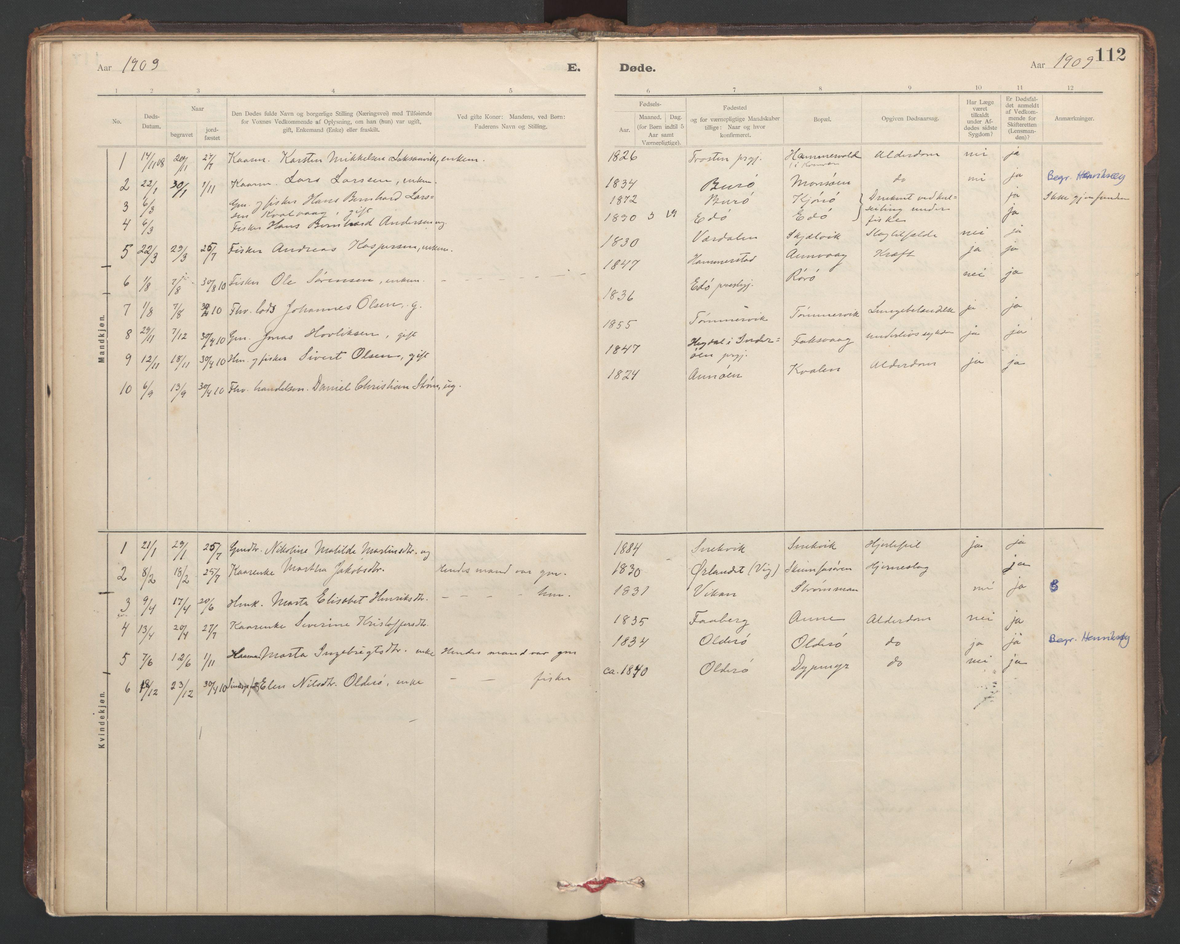 SAT, Ministerialprotokoller, klokkerbøker og fødselsregistre - Sør-Trøndelag, 635/L0552: Ministerialbok nr. 635A02, 1899-1919, s. 112