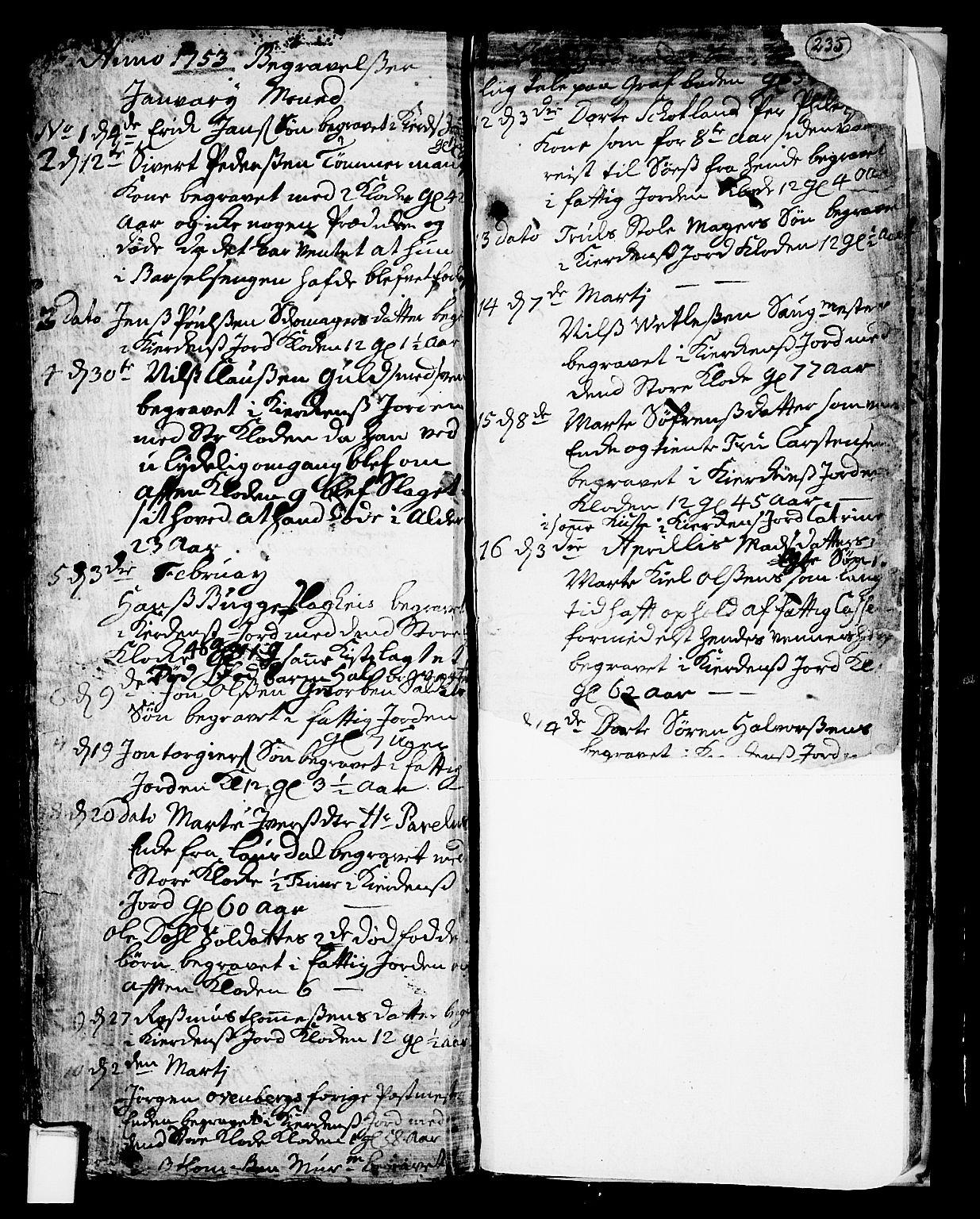 SAKO, Skien kirkebøker, F/Fa/L0002: Ministerialbok nr. 2, 1716-1757, s. 235