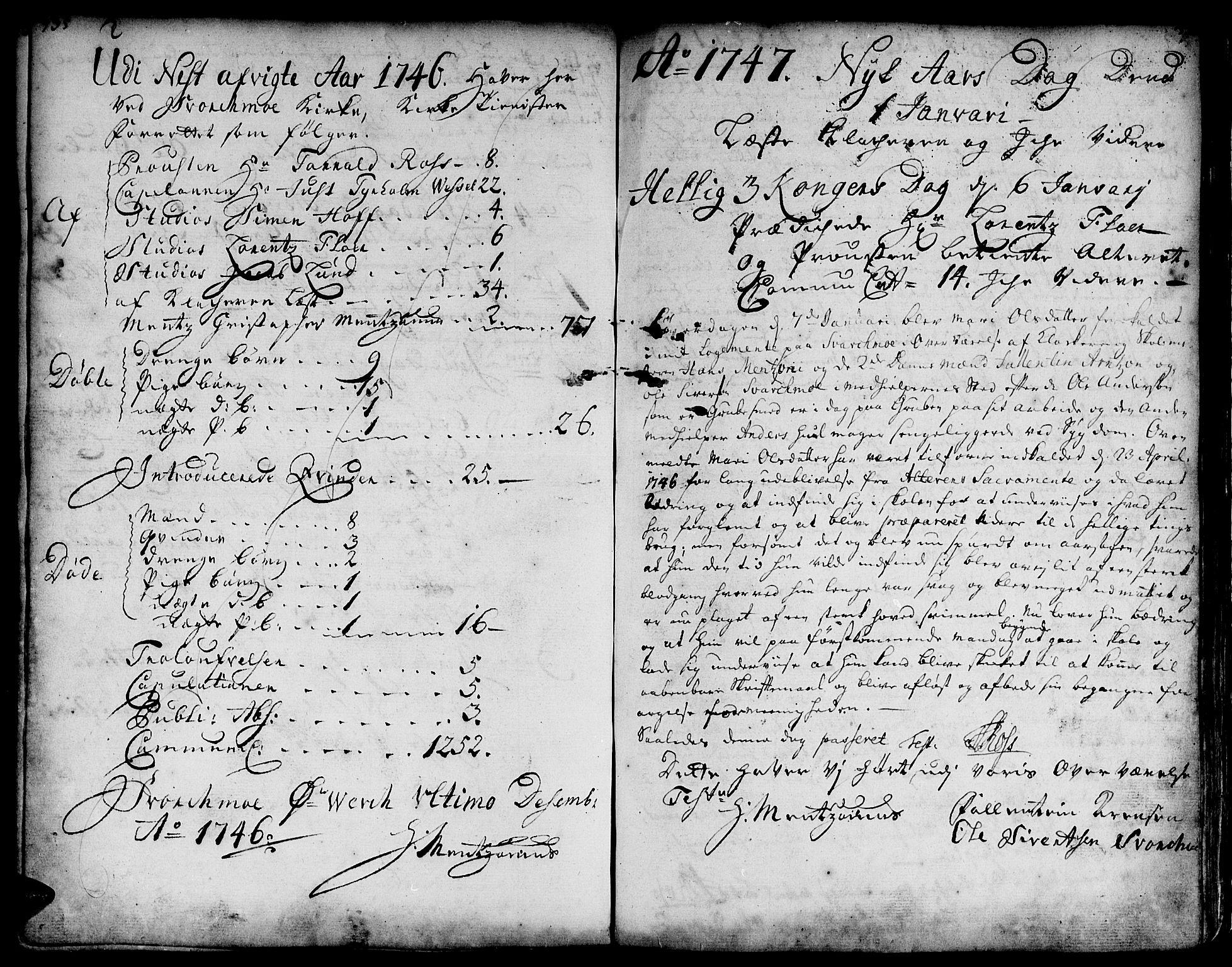 SAT, Ministerialprotokoller, klokkerbøker og fødselsregistre - Sør-Trøndelag, 671/L0839: Ministerialbok nr. 671A01, 1730-1755, s. 335-336