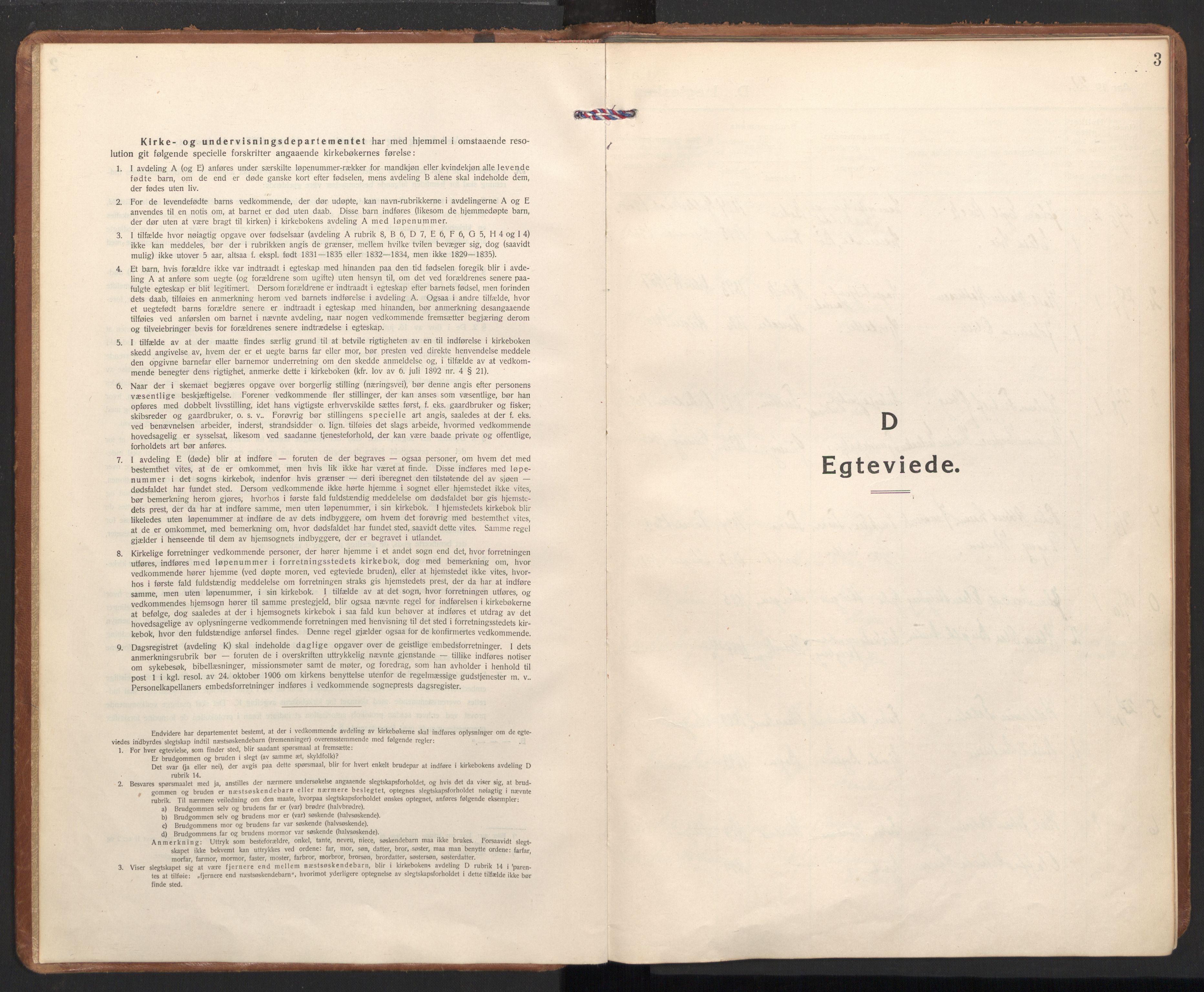 SAT, Ministerialprotokoller, klokkerbøker og fødselsregistre - Nordland, 855/L0809: Ministerialbok nr. 855A18, 1921-1939, s. 3