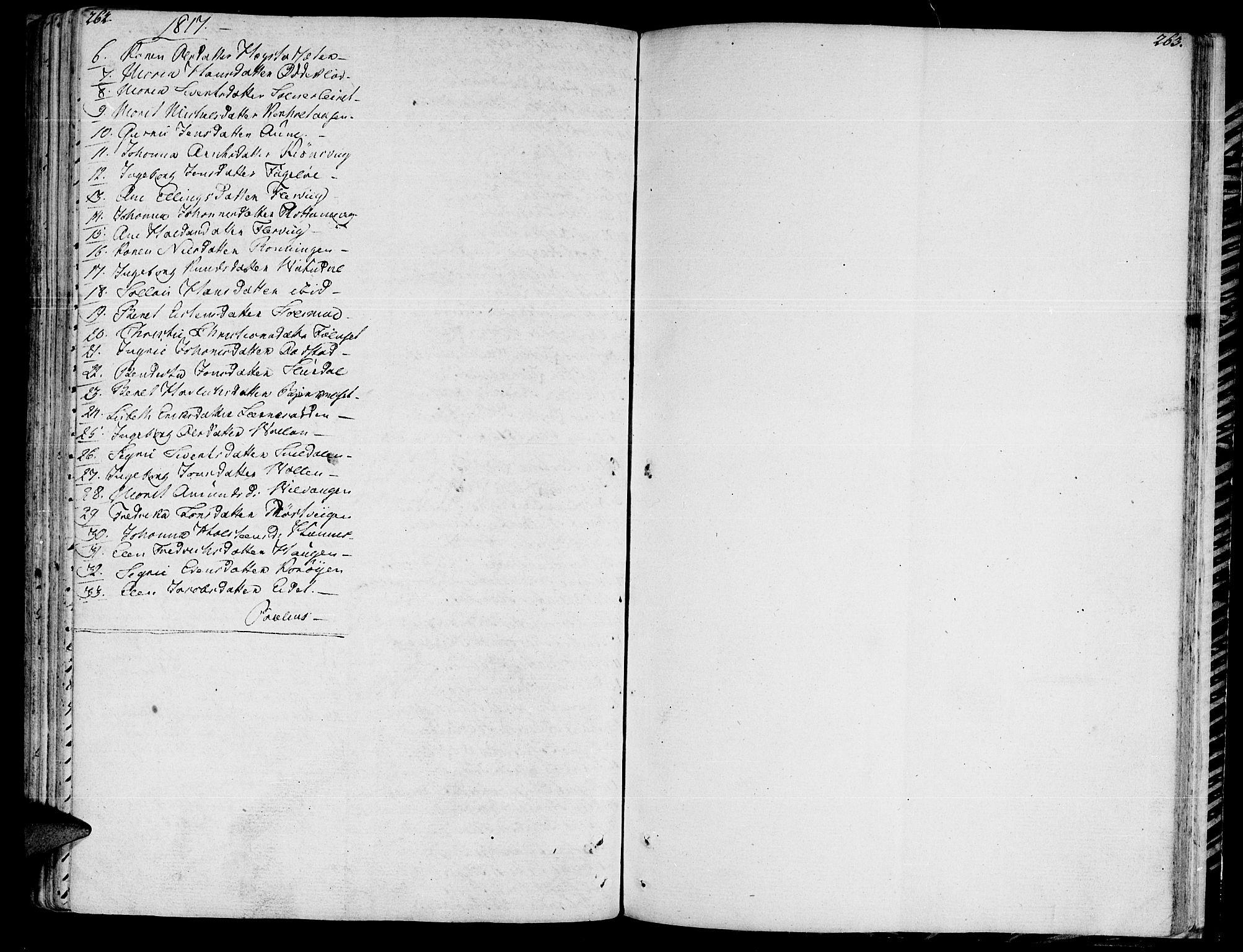 SAT, Ministerialprotokoller, klokkerbøker og fødselsregistre - Sør-Trøndelag, 630/L0490: Ministerialbok nr. 630A03, 1795-1818, s. 262-263
