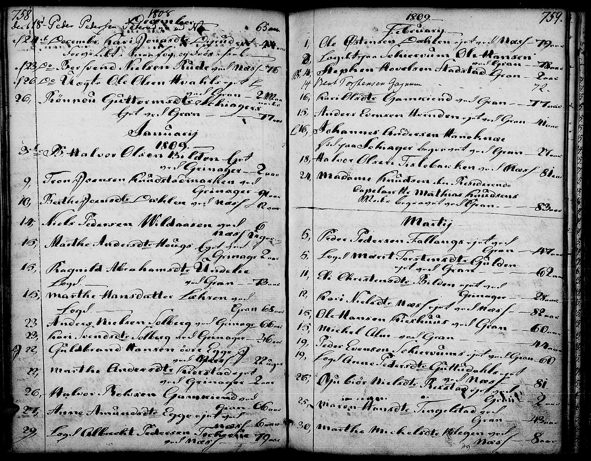 SAH, Gran prestekontor, Ministerialbok nr. 6, 1787-1824, s. 758-759