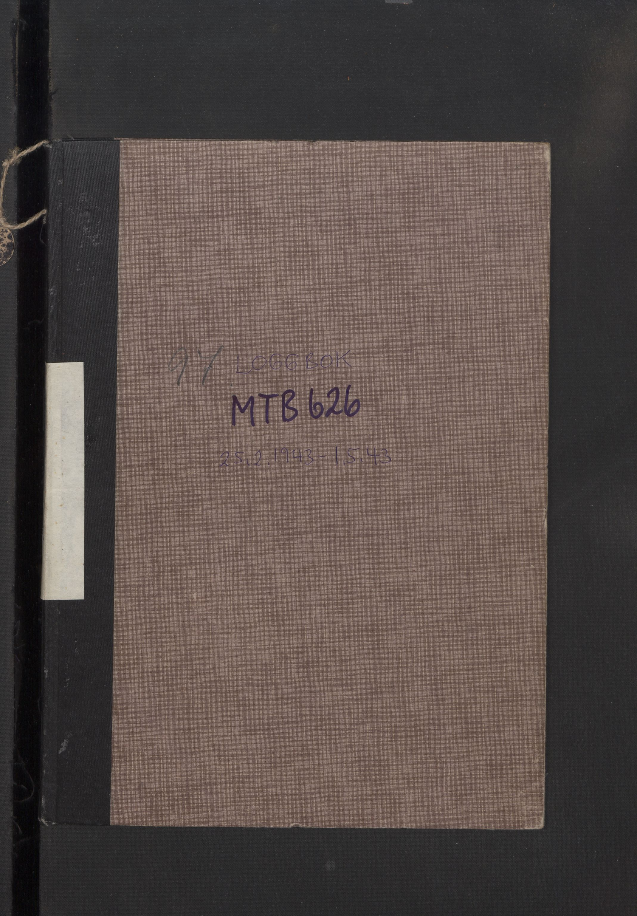 RA, Forsvaret, Sjøforsvarets fartøyer, Gm6/L0003: Loggbok, 1943
