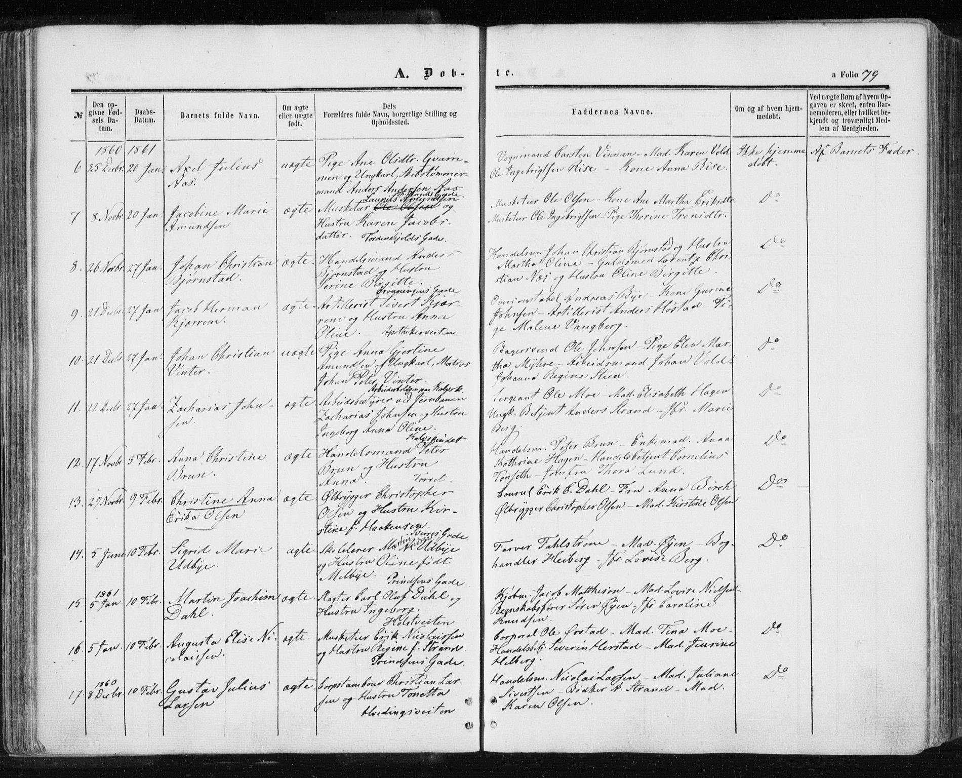 SAT, Ministerialprotokoller, klokkerbøker og fødselsregistre - Sør-Trøndelag, 601/L0053: Ministerialbok nr. 601A21, 1857-1865, s. 79