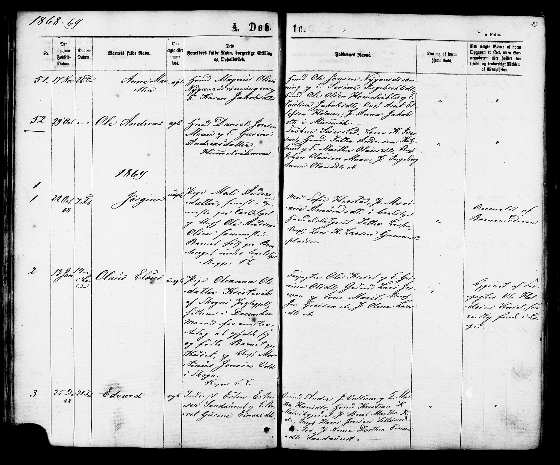 SAT, Ministerialprotokoller, klokkerbøker og fødselsregistre - Sør-Trøndelag, 616/L0409: Ministerialbok nr. 616A06, 1865-1877, s. 23