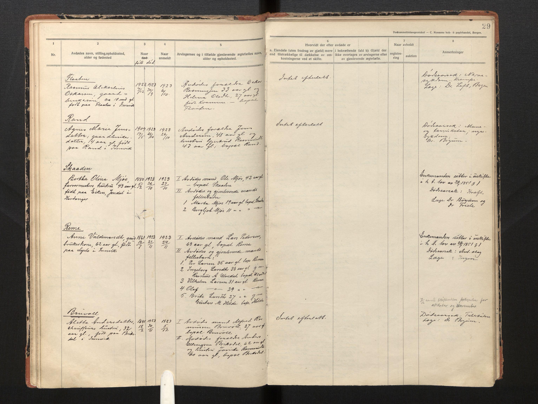 SAB, Lensmannen i Innvik, 0006/L0005: Dødsfallprotokoll, 1921-1932, s. 28b-29a