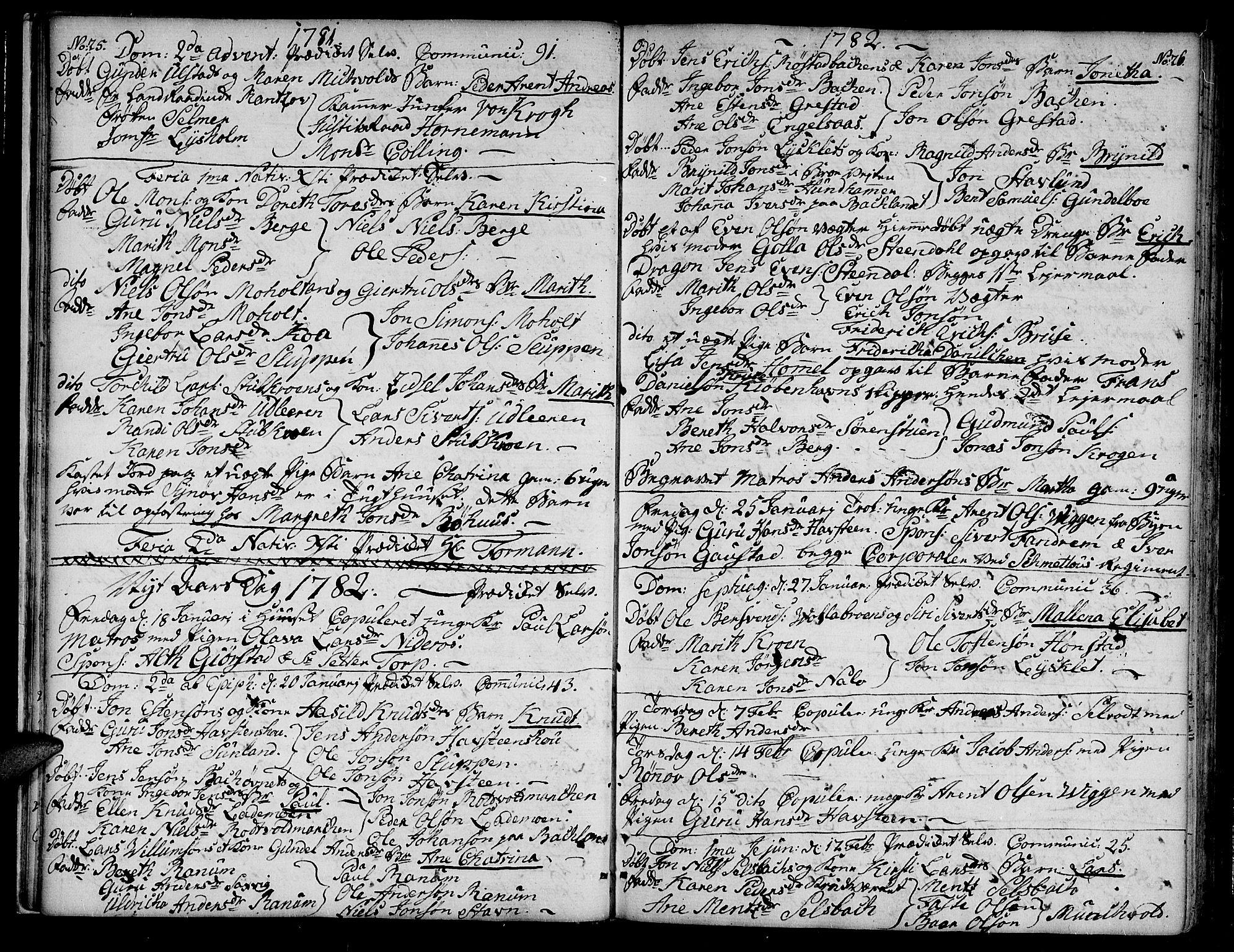 SAT, Ministerialprotokoller, klokkerbøker og fødselsregistre - Sør-Trøndelag, 604/L0180: Ministerialbok nr. 604A01, 1780-1797, s. 25-26