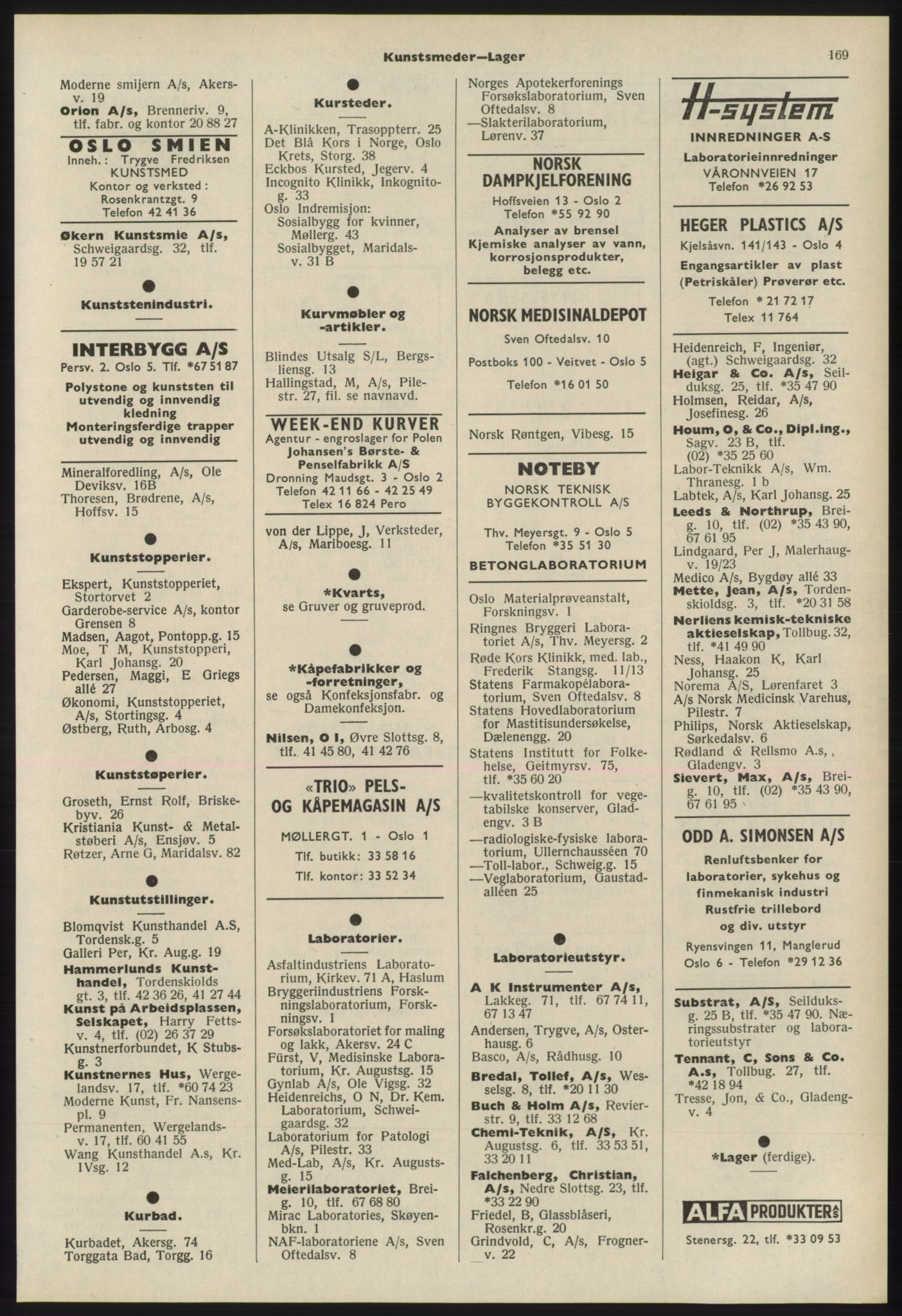 PUBL, Kristiania/Oslo adressebok, 1975-1976, s. 169