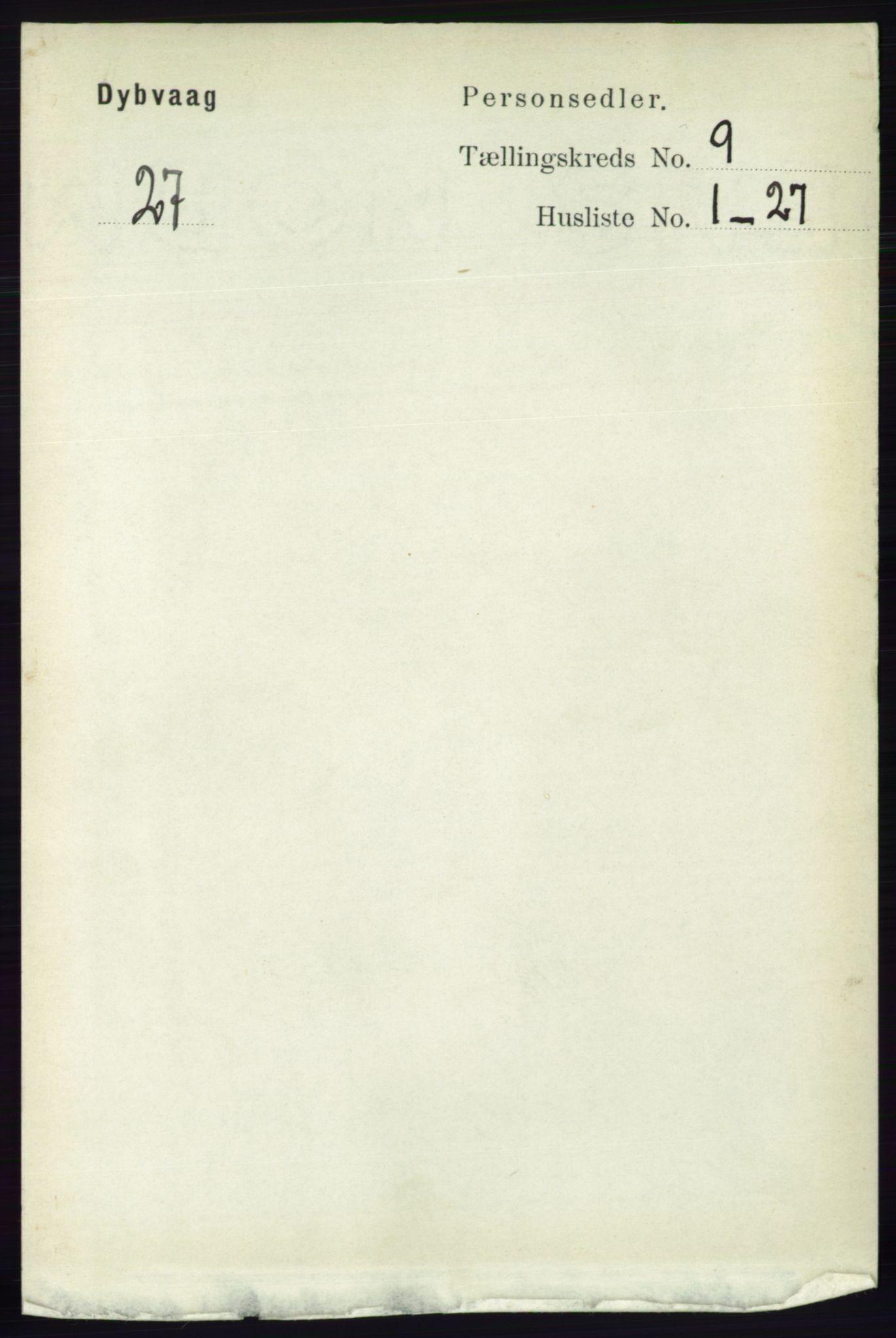 RA, Folketelling 1891 for 0915 Dypvåg herred, 1891, s. 3278