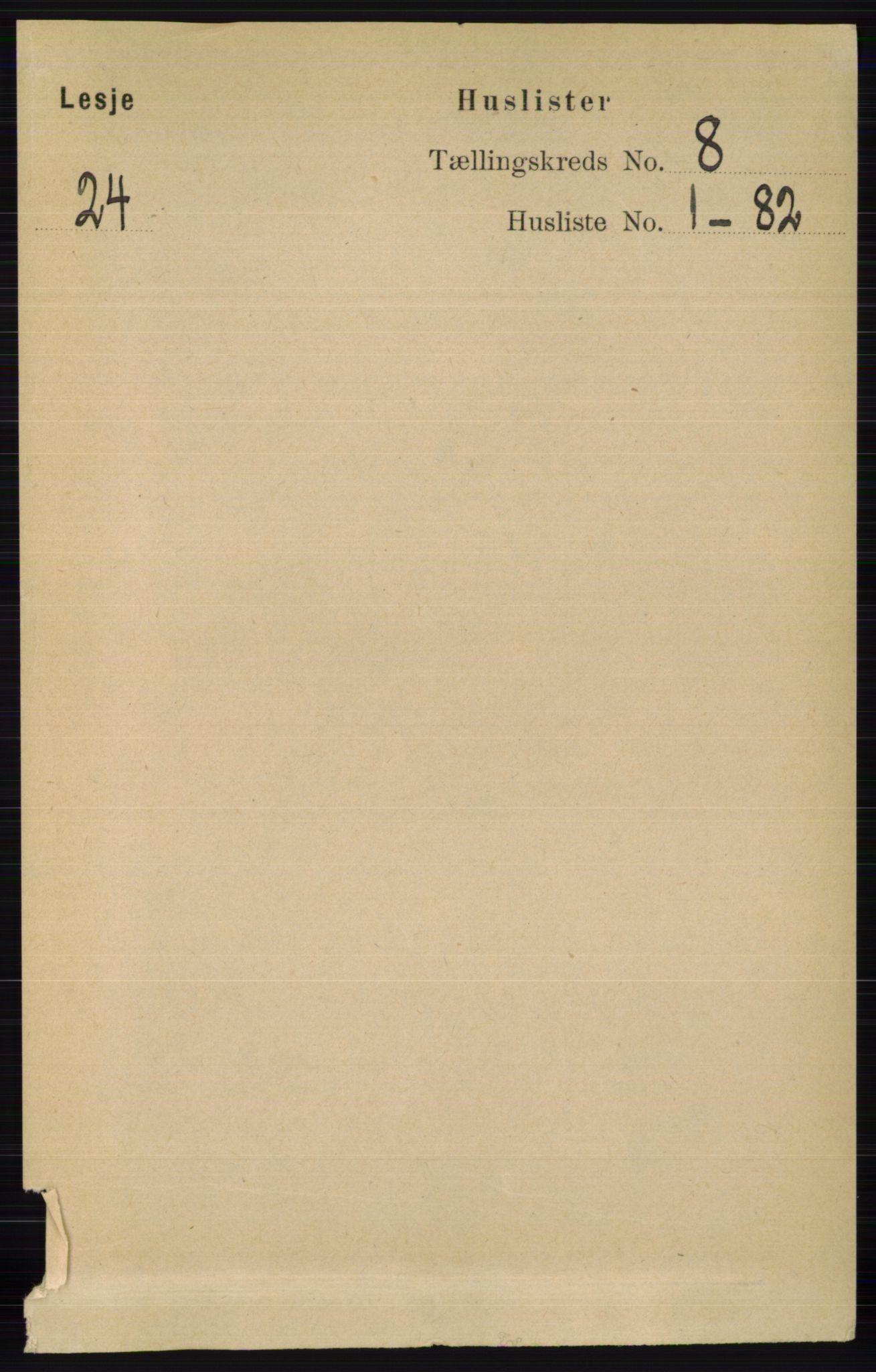RA, Folketelling 1891 for 0512 Lesja herred, 1891, s. 2905