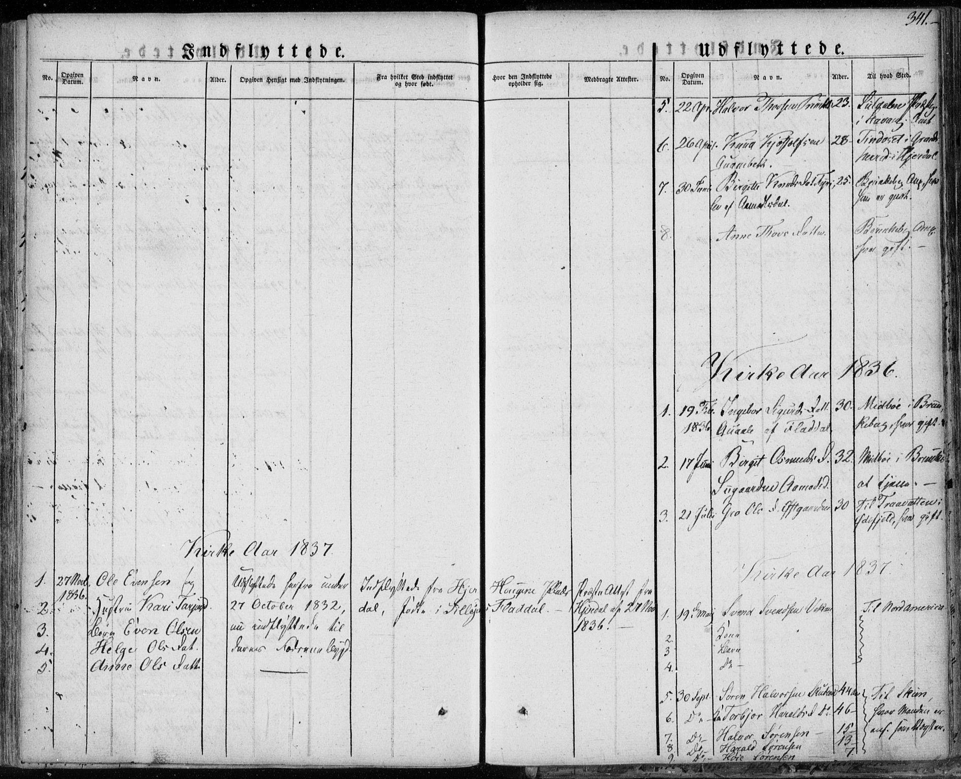 SAKO, Seljord kirkebøker, F/Fa/L0011: Ministerialbok nr. I 11, 1831-1849, s. 341