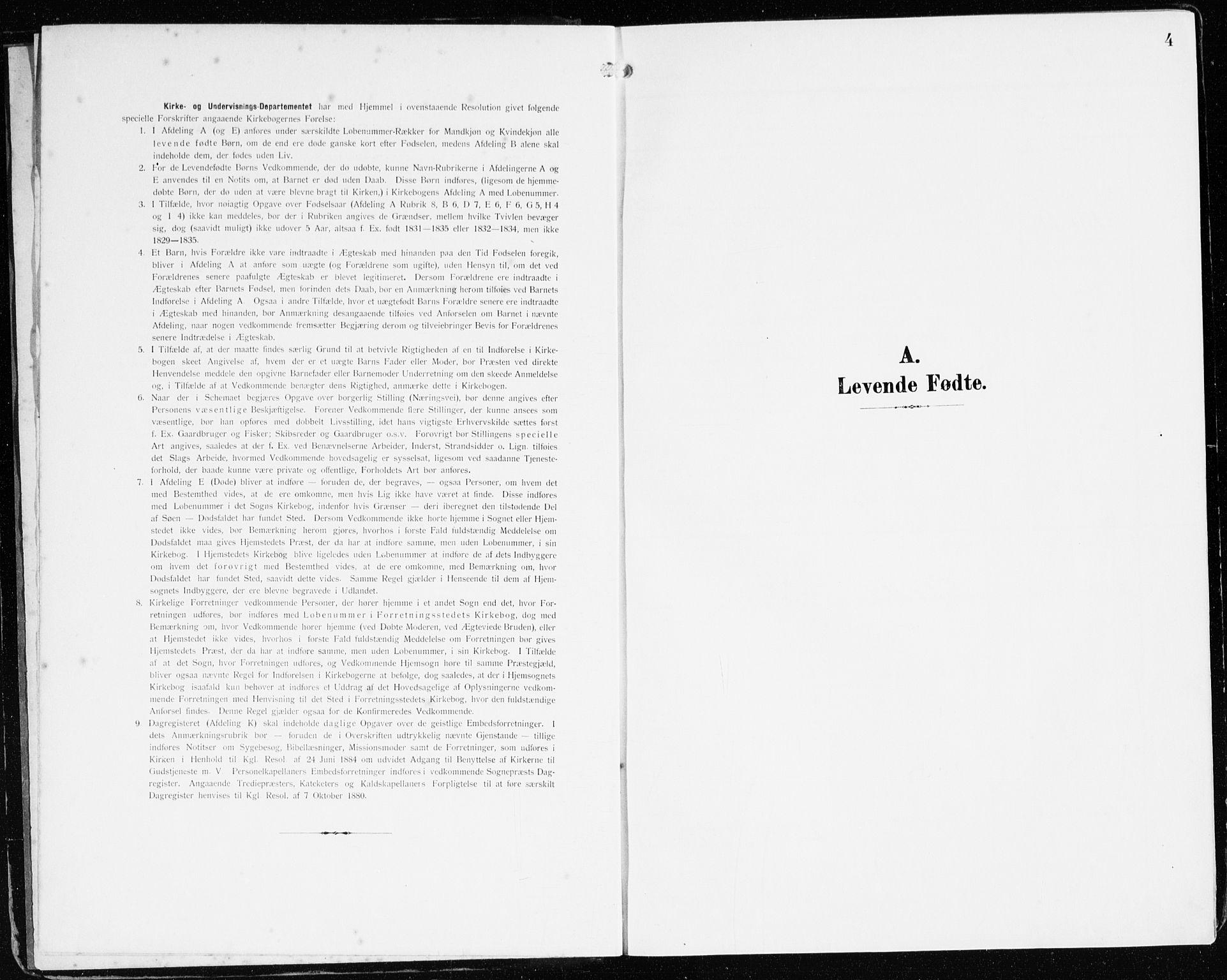 SAB, Bremanger Sokneprestembete, H/Haa: Ministerialbok nr. B 3, 1908-1925, s. 4