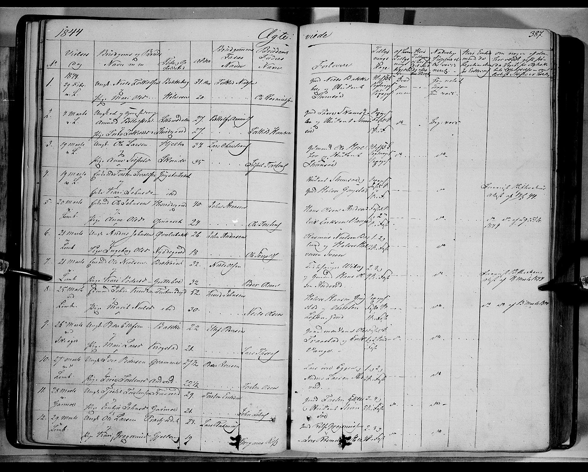 SAH, Lom prestekontor, K/L0006: Ministerialbok nr. 6B, 1837-1863, s. 387