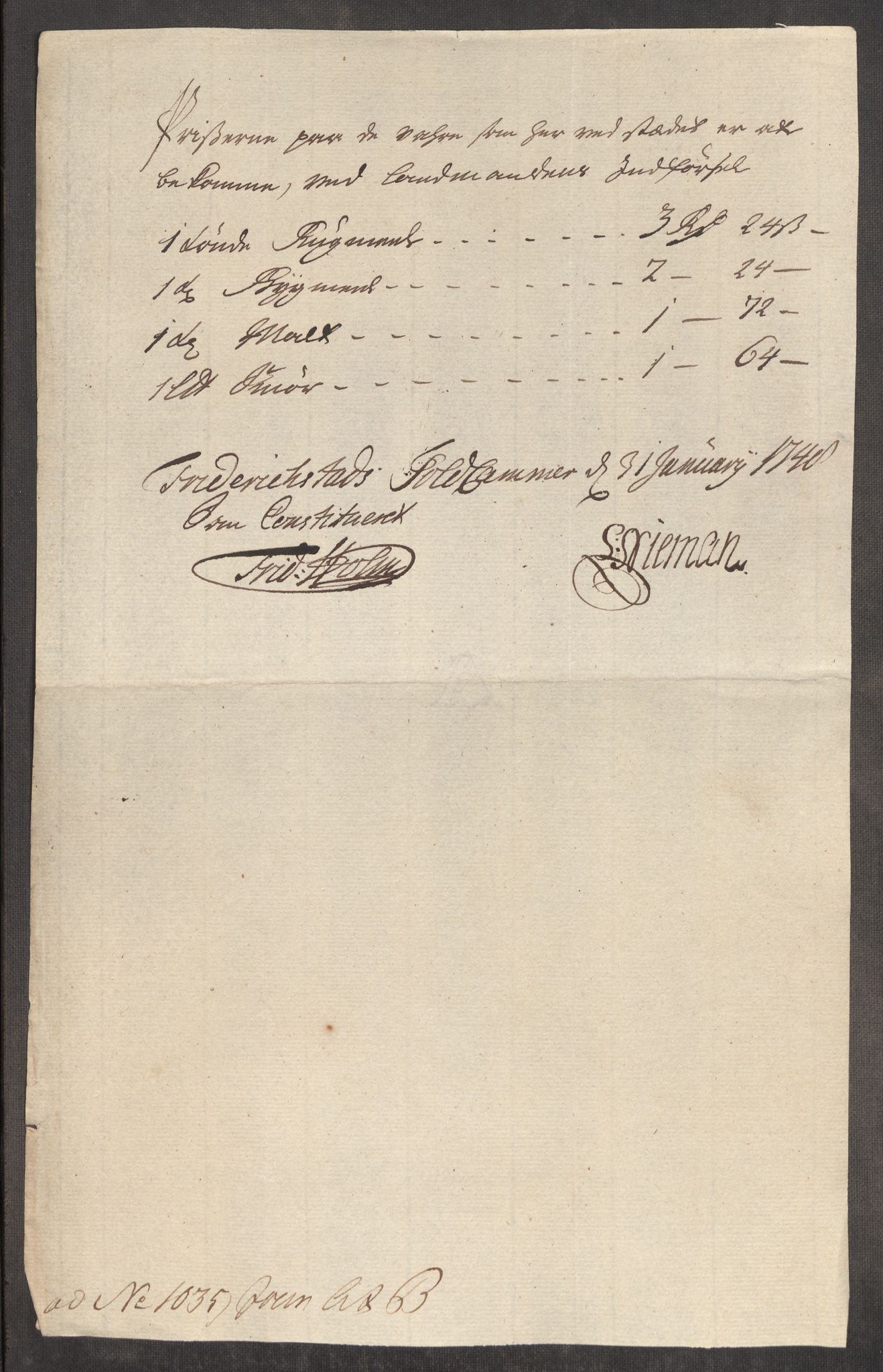 RA, Rentekammeret inntil 1814, Realistisk ordnet avdeling, Oe/L0003: [Ø1]: Priskuranter, 1745-1748, s. 683