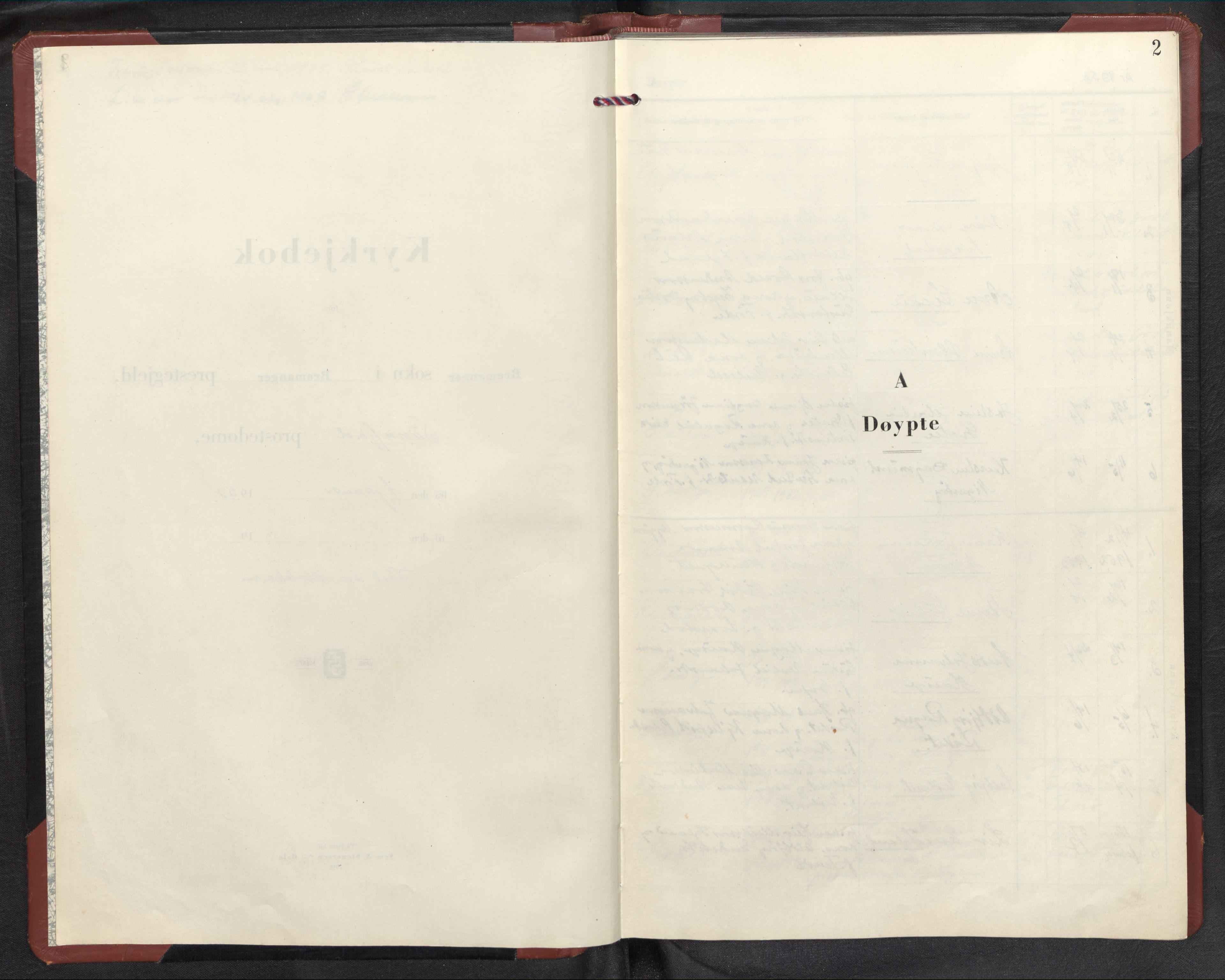 SAB, Bremanger Sokneprestembete, H/Hab: Klokkerbok nr. C 4, 1953-1970, s. 1b-2a