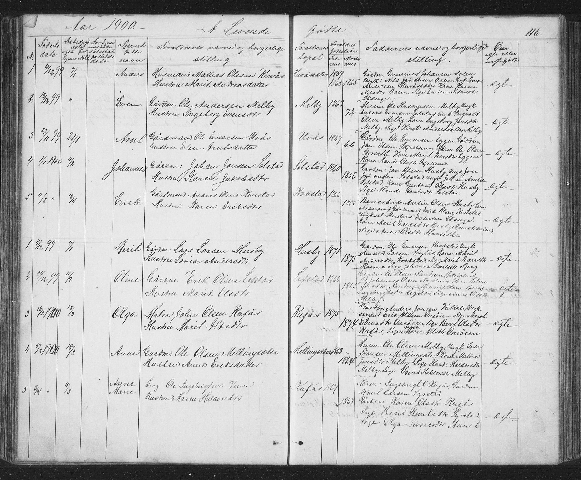 SAT, Ministerialprotokoller, klokkerbøker og fødselsregistre - Sør-Trøndelag, 667/L0798: Klokkerbok nr. 667C03, 1867-1929, s. 116