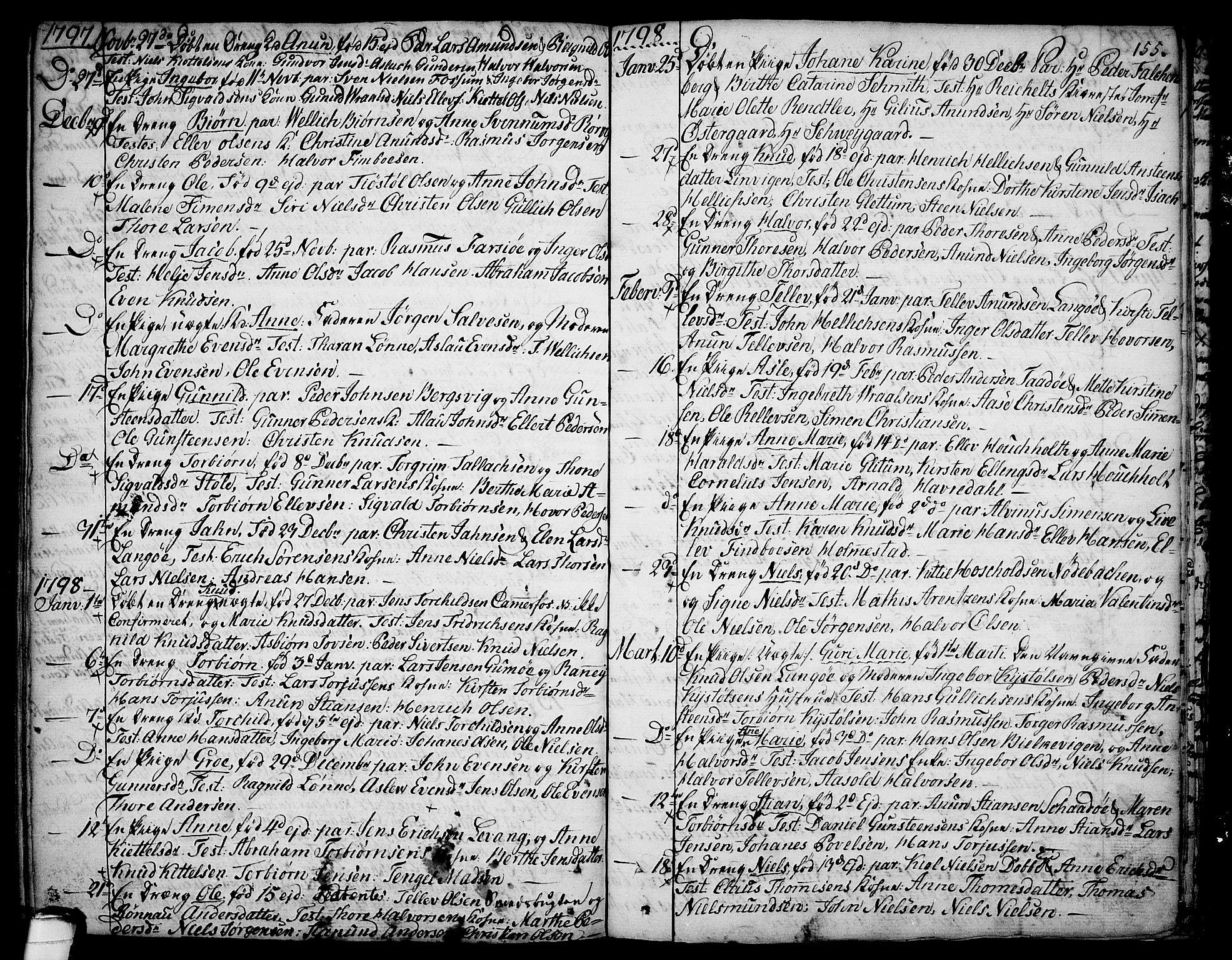 SAKO, Sannidal kirkebøker, F/Fa/L0002: Ministerialbok nr. 2, 1767-1802, s. 155