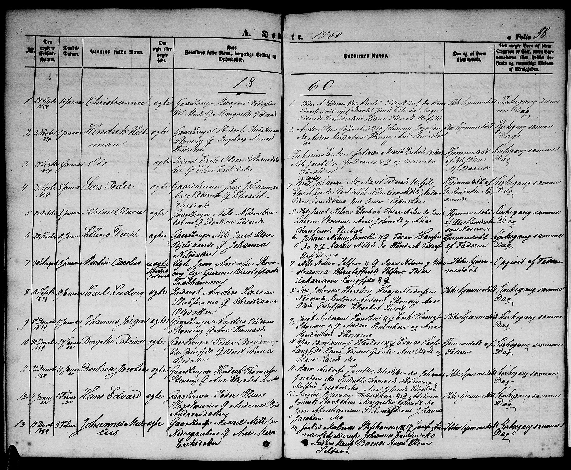SAT, Ministerialprotokoller, klokkerbøker og fødselsregistre - Nordland, 827/L0414: Klokkerbok nr. 827C03, 1853-1865, s. 58