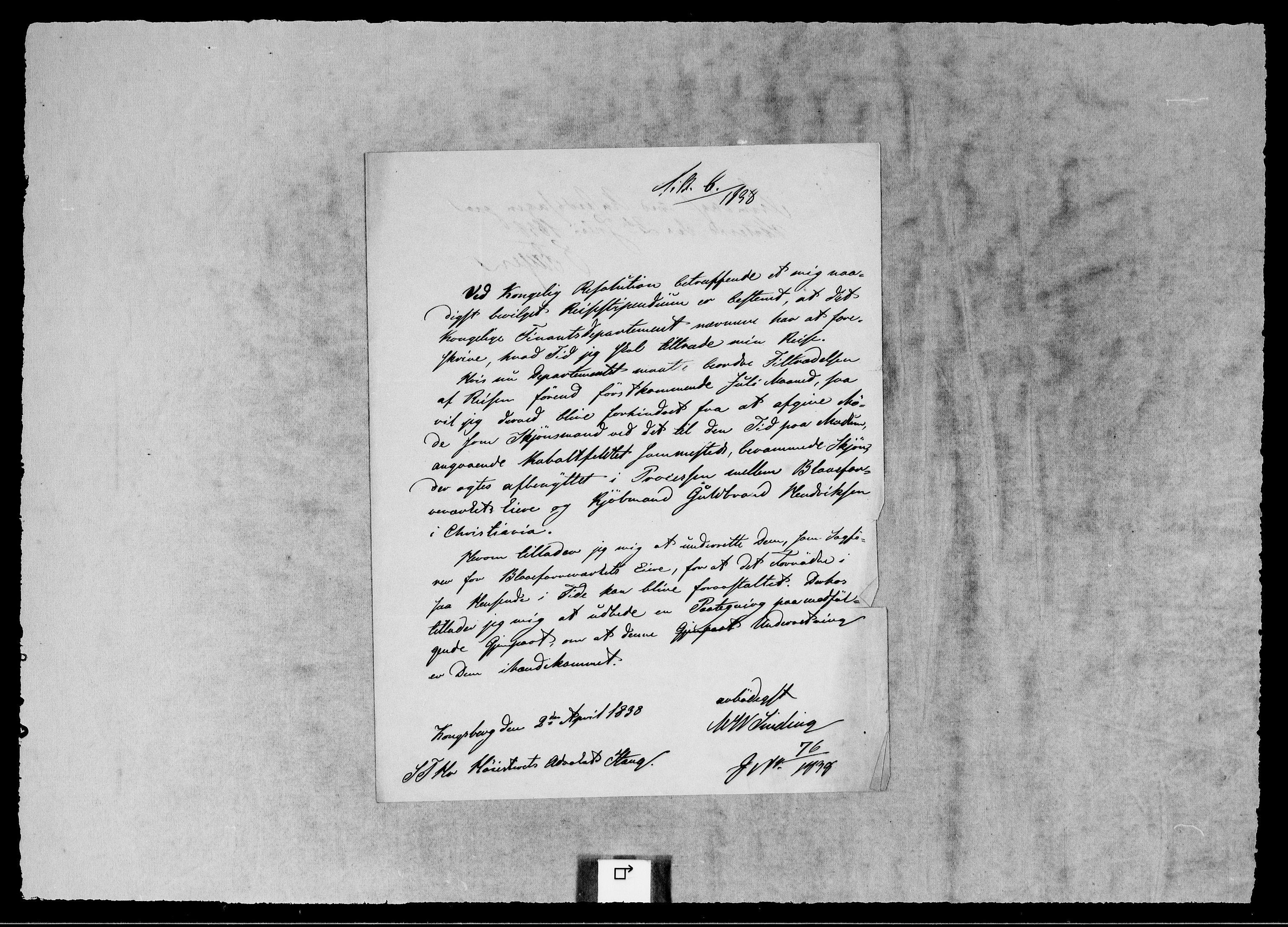 RA, Modums Blaafarveværk, G/Gb/L0120, 1837-1838, s. 2