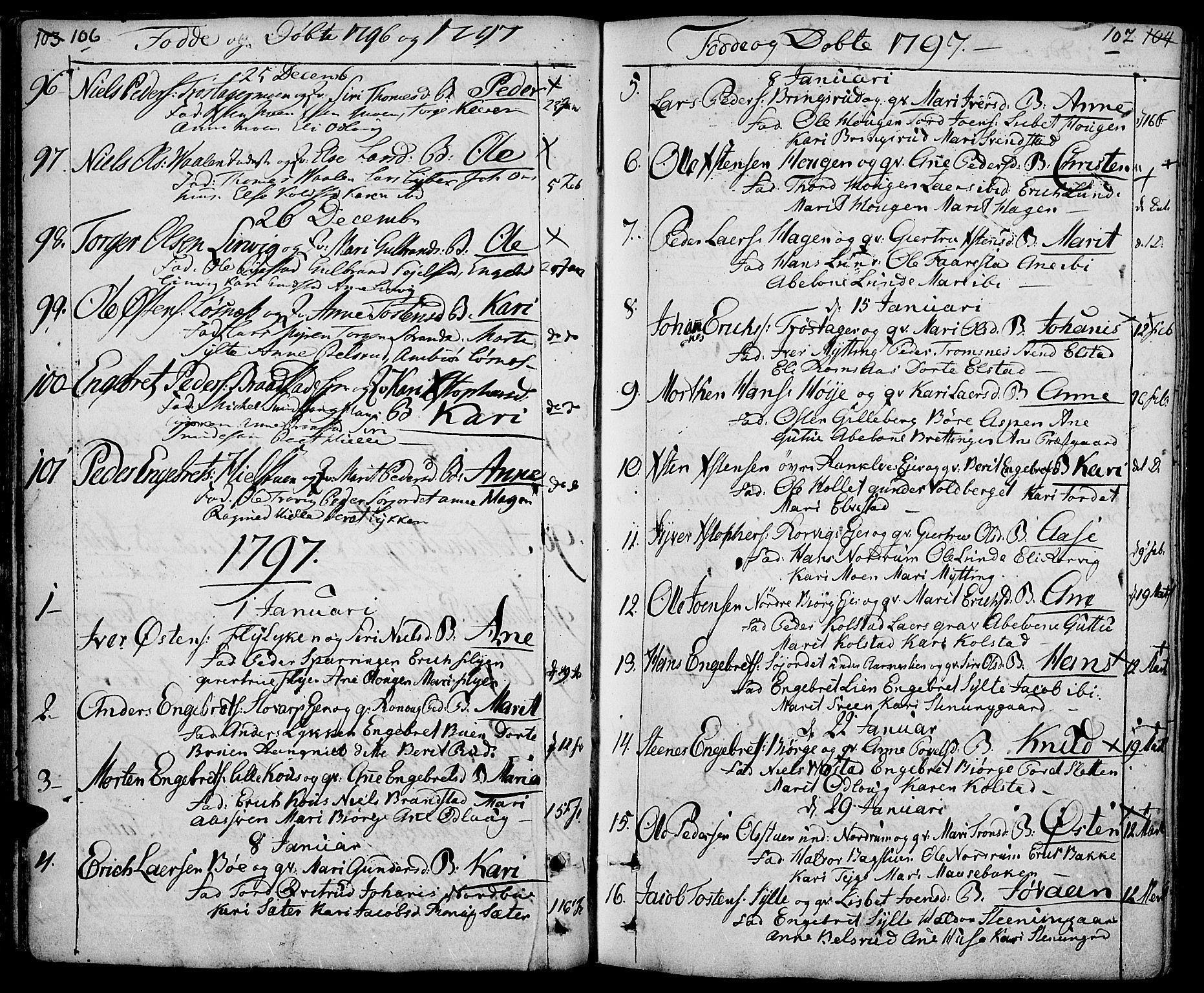 SAH, Ringebu prestekontor, Ministerialbok nr. 3, 1781-1820, s. 106-107