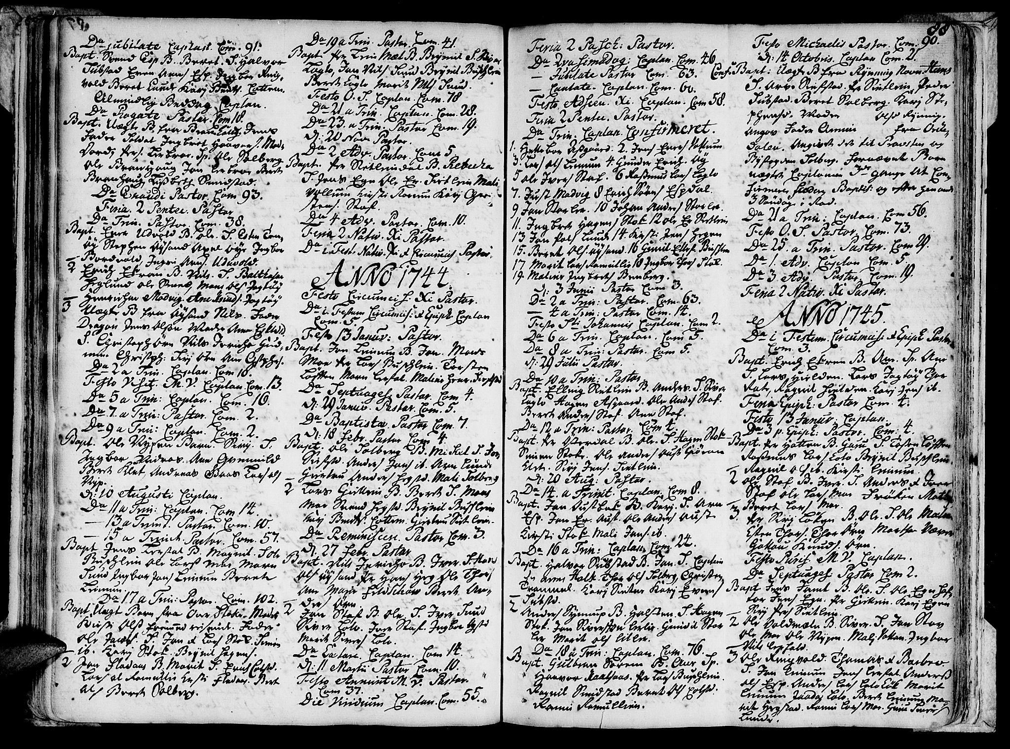 SAT, Ministerialprotokoller, klokkerbøker og fødselsregistre - Sør-Trøndelag, 691/L1059: Ministerialbok nr. 691A01 /3, 1740-1767, s. 88