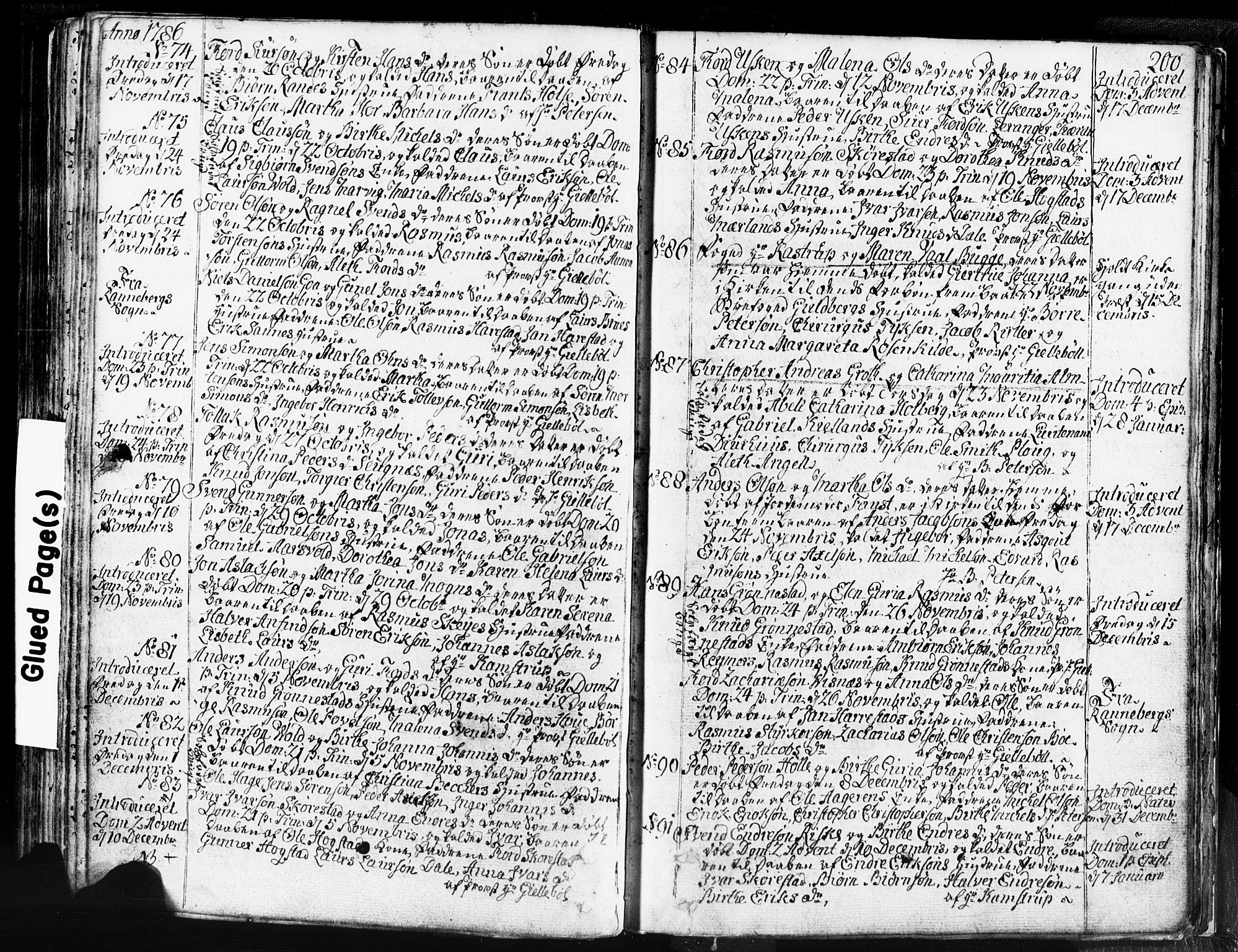 SAST, Domkirken sokneprestkontor, 30/30BB/L0004: Klokkerbok nr. B 4, 1752-1790, s. 200