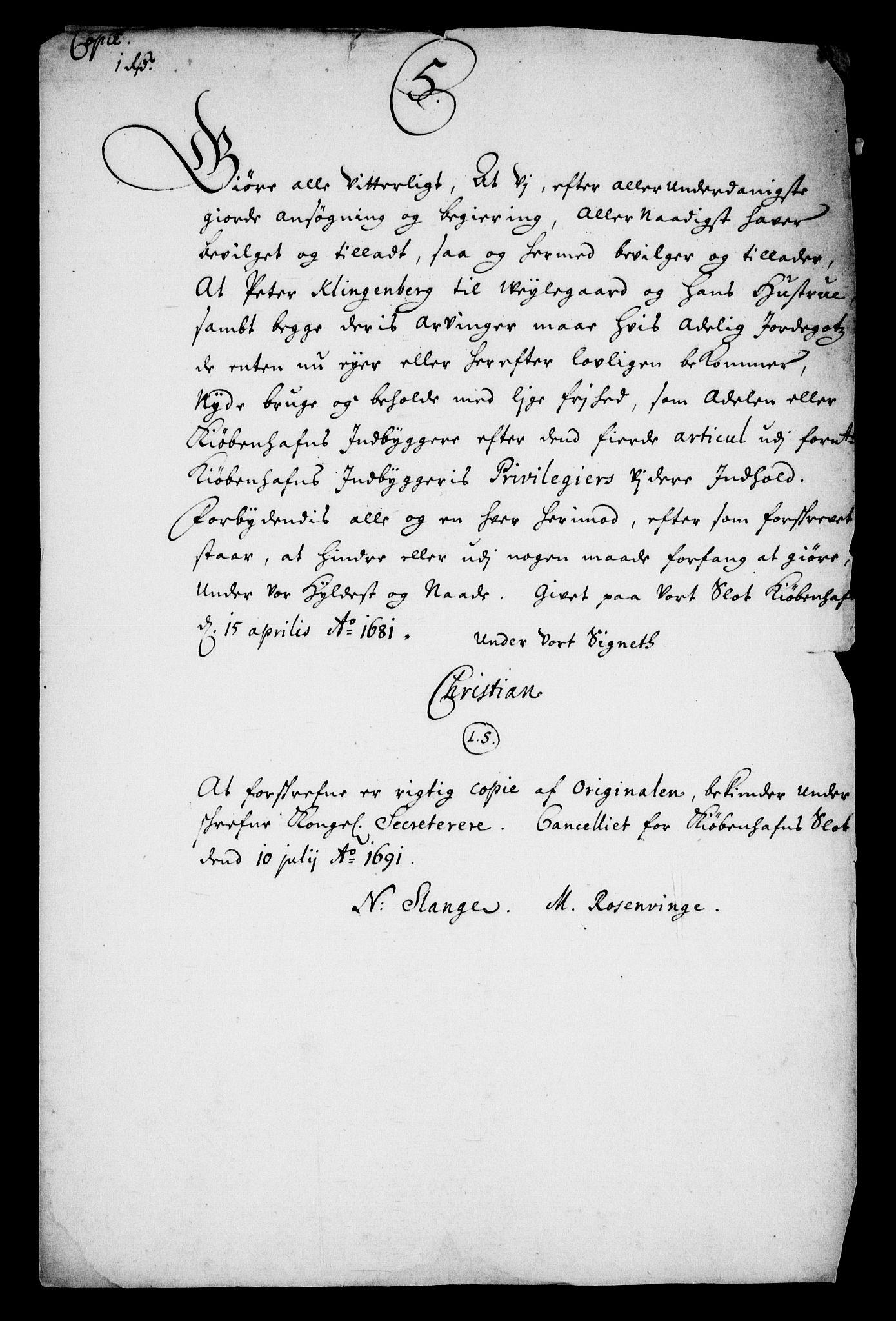 RA, Rentekammeret inntil 1814, Realistisk ordnet avdeling, On/L0010: [Jj 11]: Salg av krongods i Norge, 1661-1704, s. 526