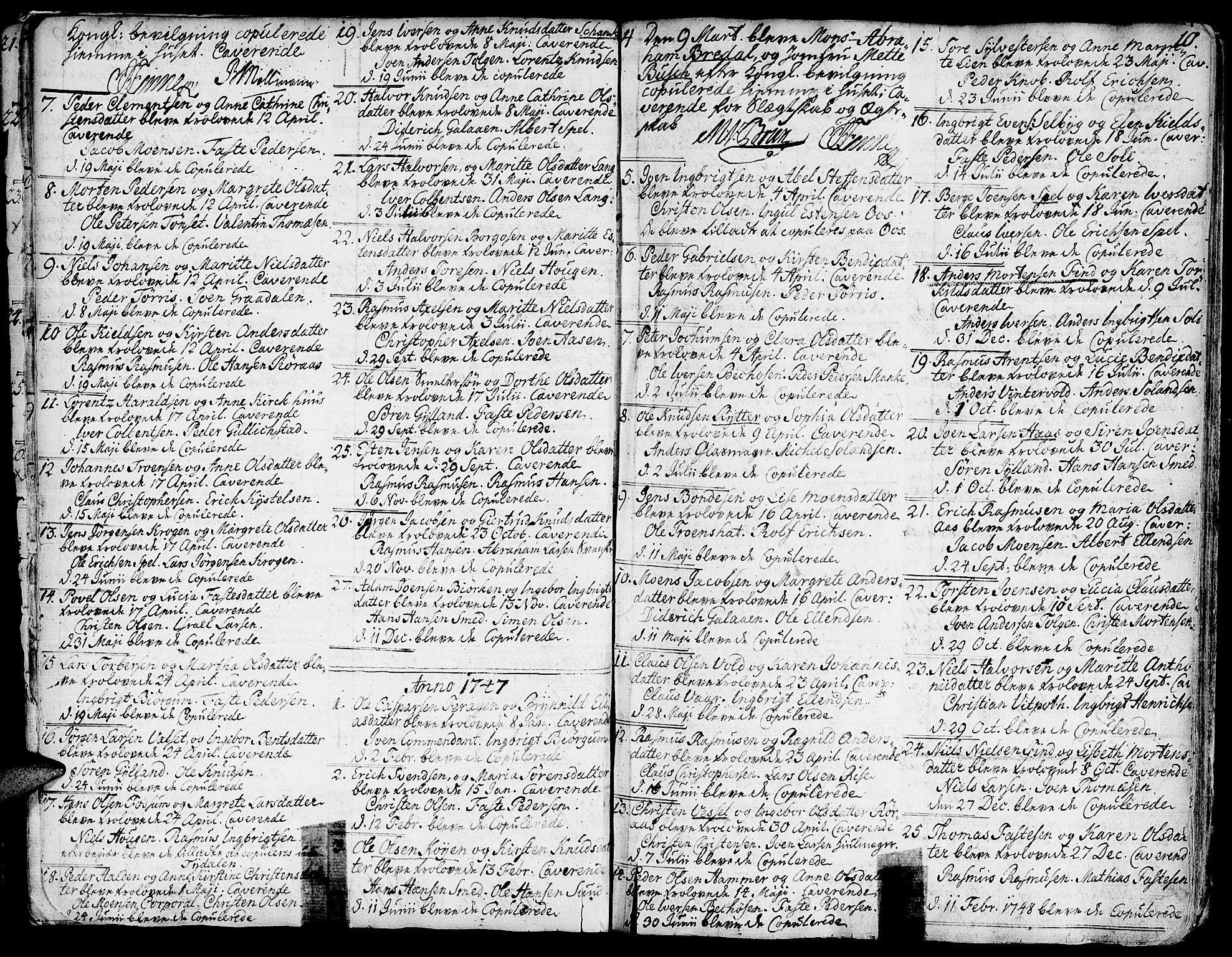 SAT, Ministerialprotokoller, klokkerbøker og fødselsregistre - Sør-Trøndelag, 681/L0925: Ministerialbok nr. 681A03, 1727-1766, s. 10