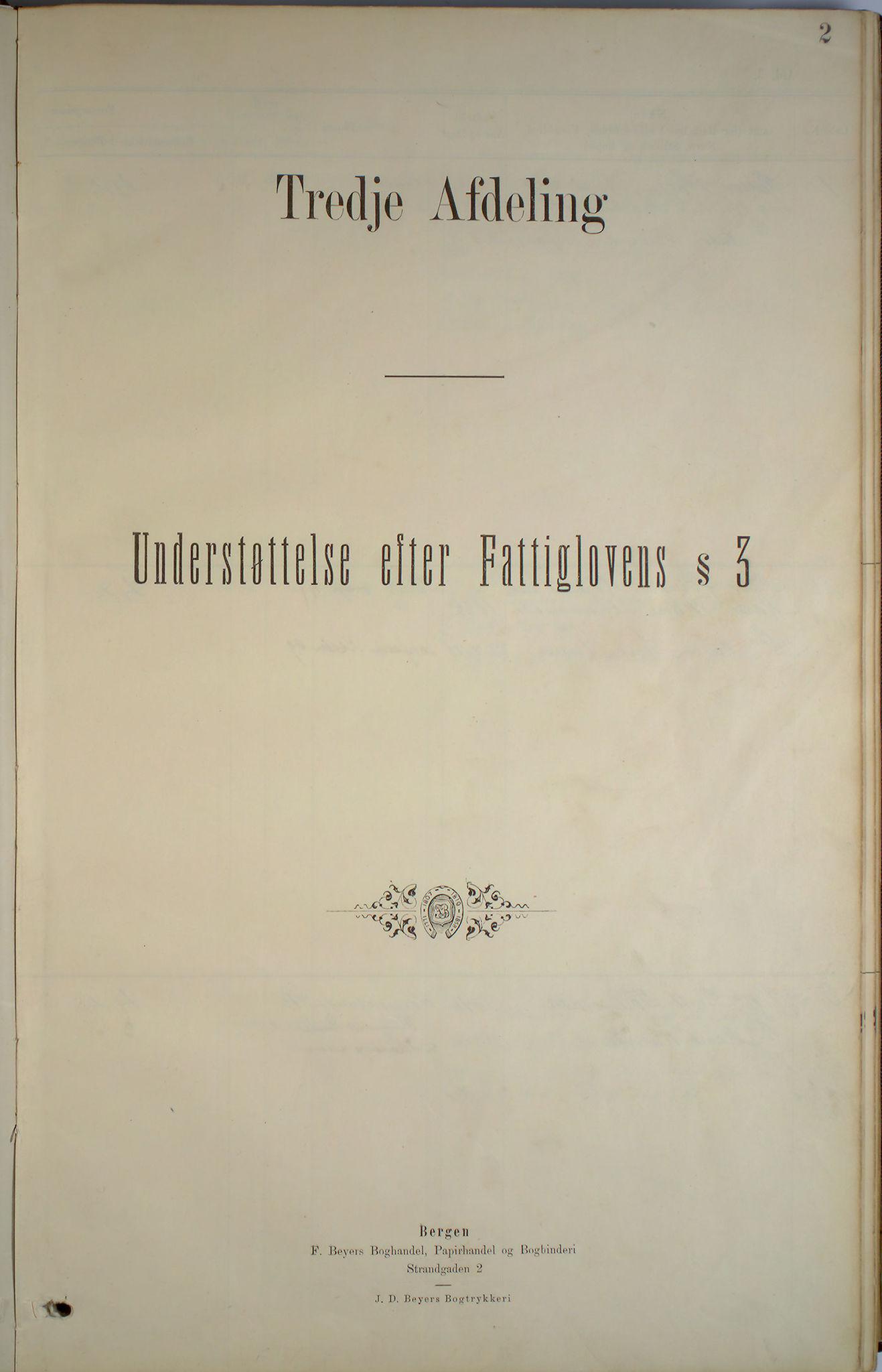 BBA, Bergen fattigvesen, 1886-1891, s. 2