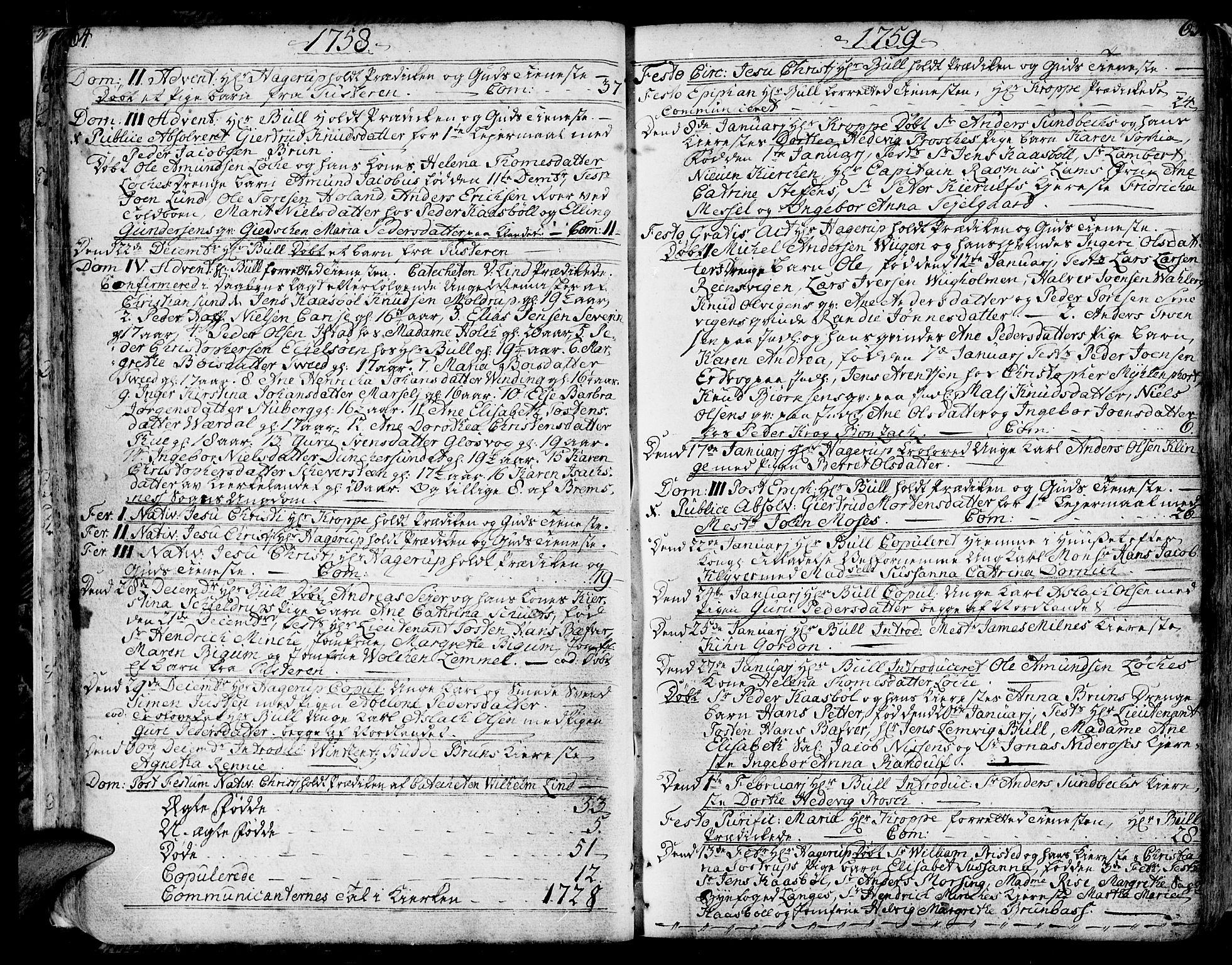 SAT, Ministerialprotokoller, klokkerbøker og fødselsregistre - Møre og Romsdal, 572/L0840: Ministerialbok nr. 572A03, 1754-1784, s. 64-65