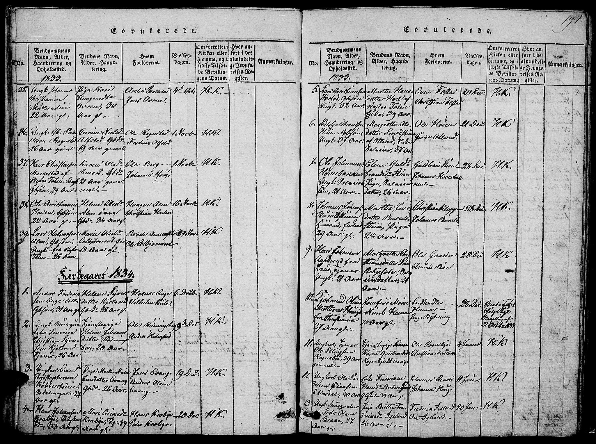 SAH, Østre Toten prestekontor, Klokkerbok nr. 1, 1827-1839, s. 194