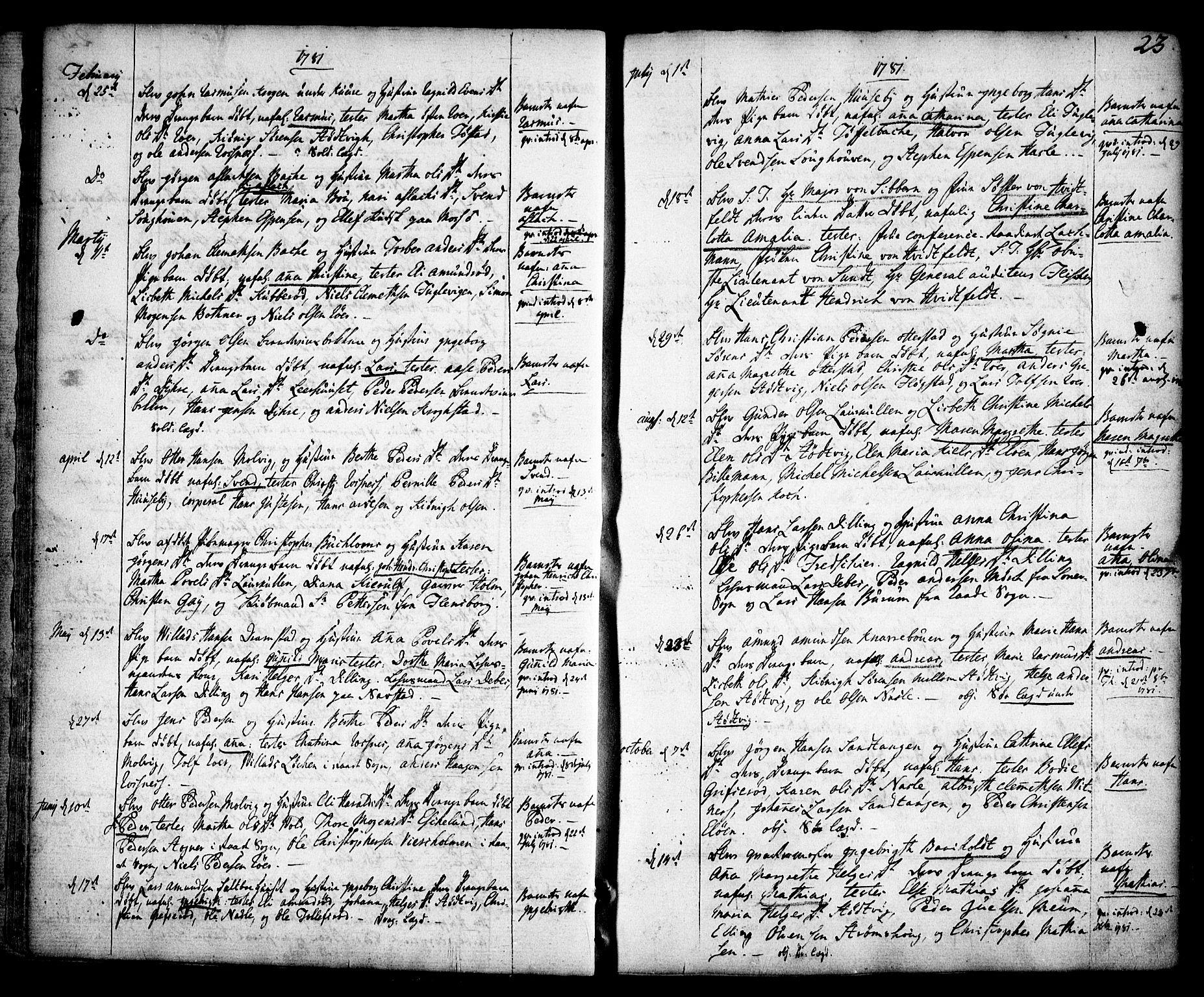 SAO, Rygge prestekontor Kirkebøker, F/Fa/L0002: Ministerialbok nr. 2, 1771-1814, s. 23